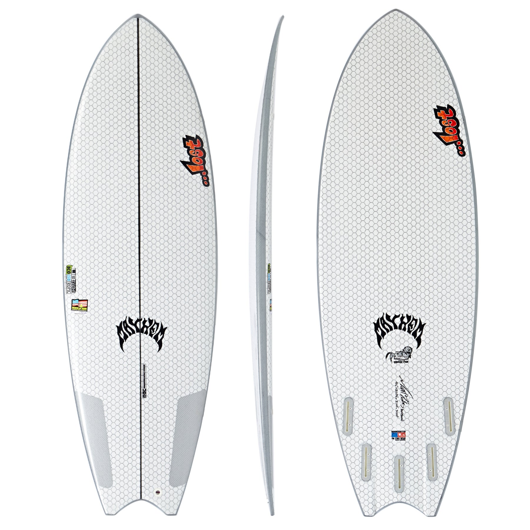 Surfboard Lib Tech X Lost Puddle Fish - White