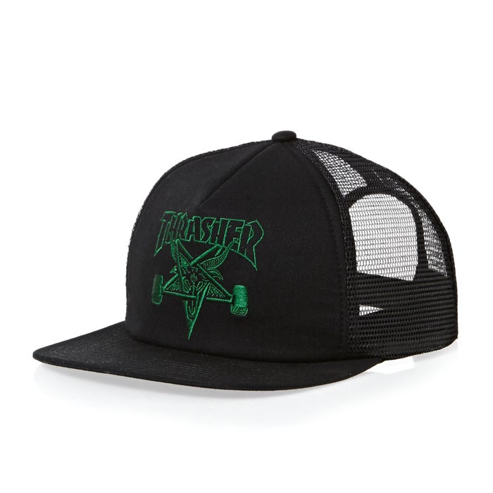 b3fc832190f Thrasher SK8 Goat Embroidered Mesh Cap available from Surfdome