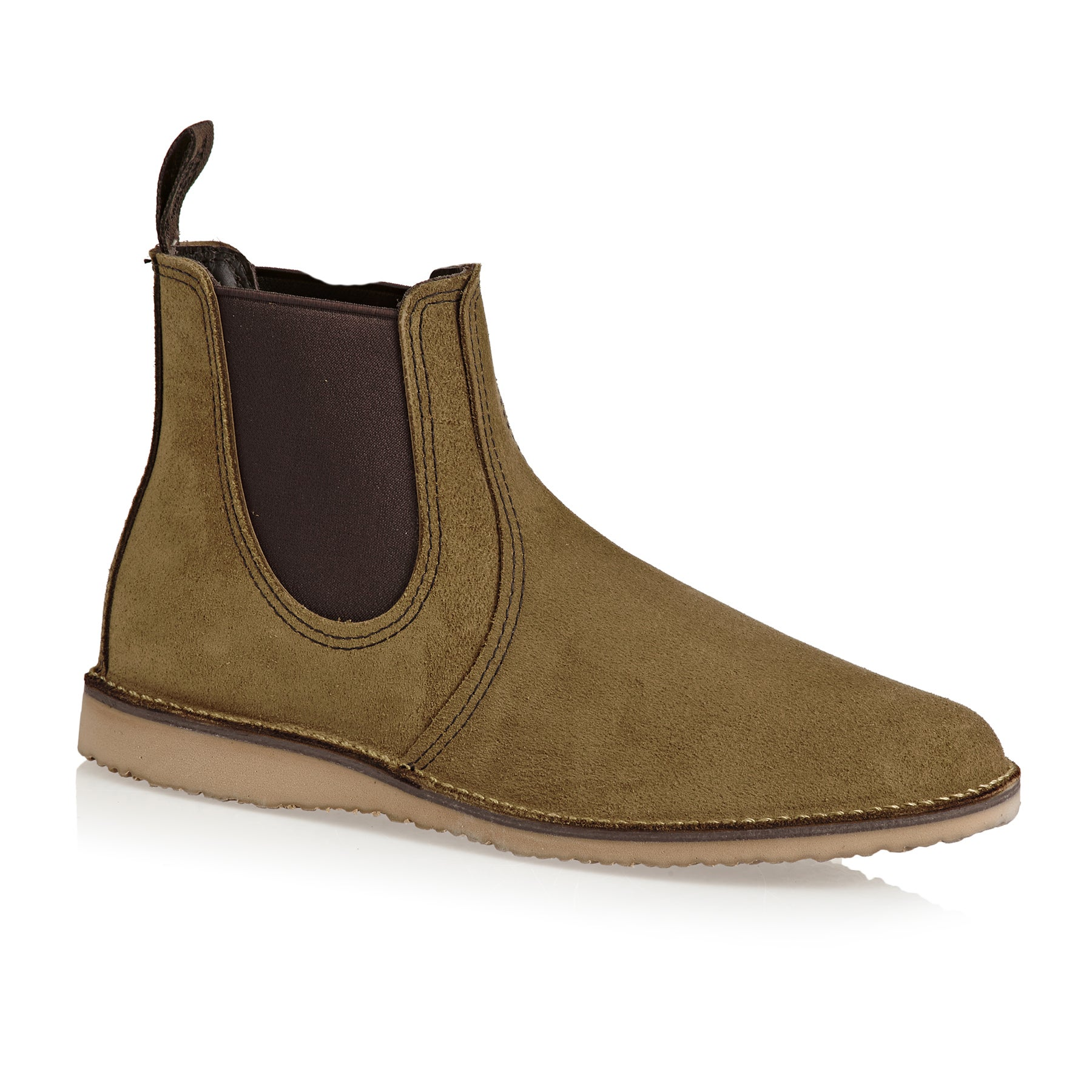 Red Wing Weekender Chelsea Boots - Olive Mohave