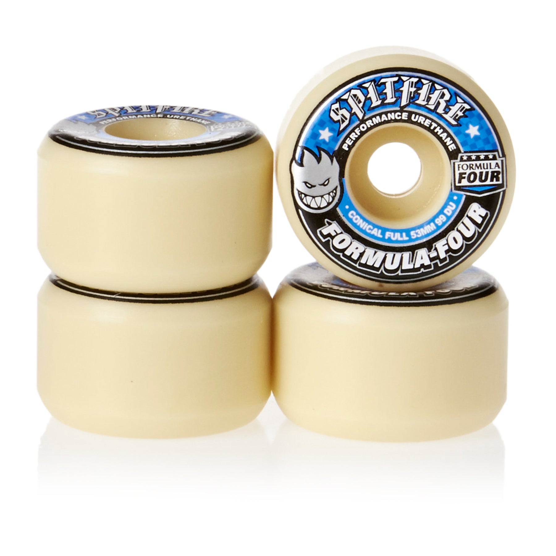 Spitfire Formula Four Wheels Conical 99DU Natural 53mm Skateboard Wheel - White