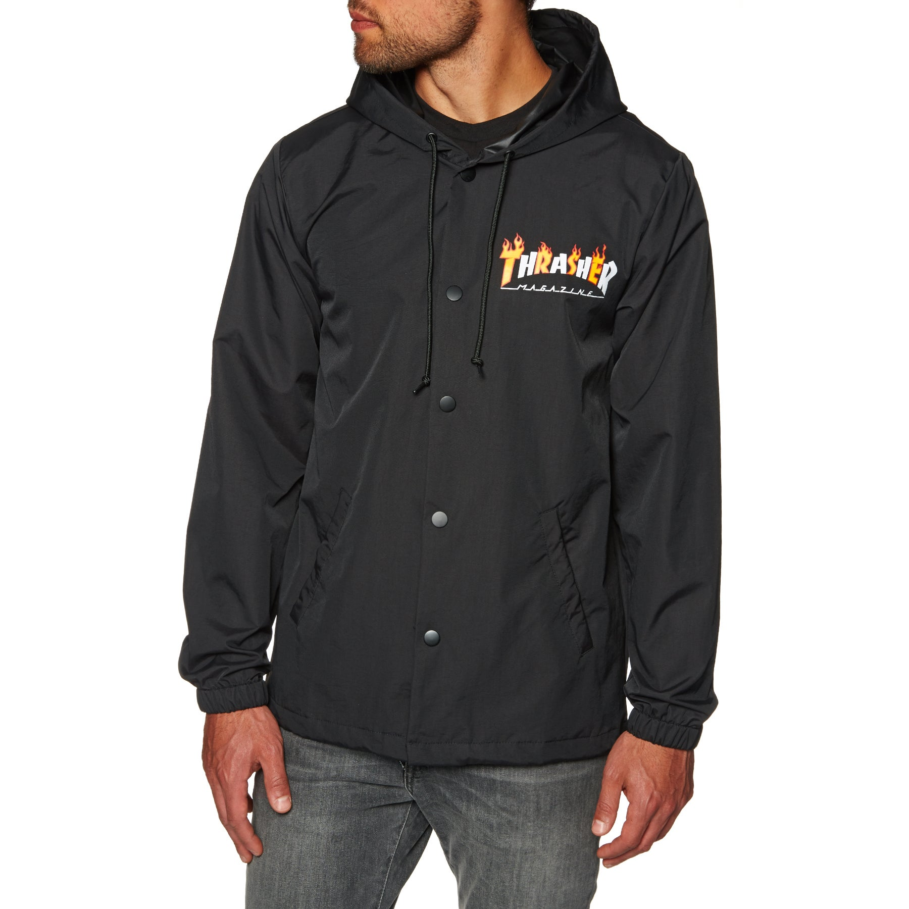 9704690d87bd Thrasher Flame Mag Coach Jacket - Free Delivery options on All ...