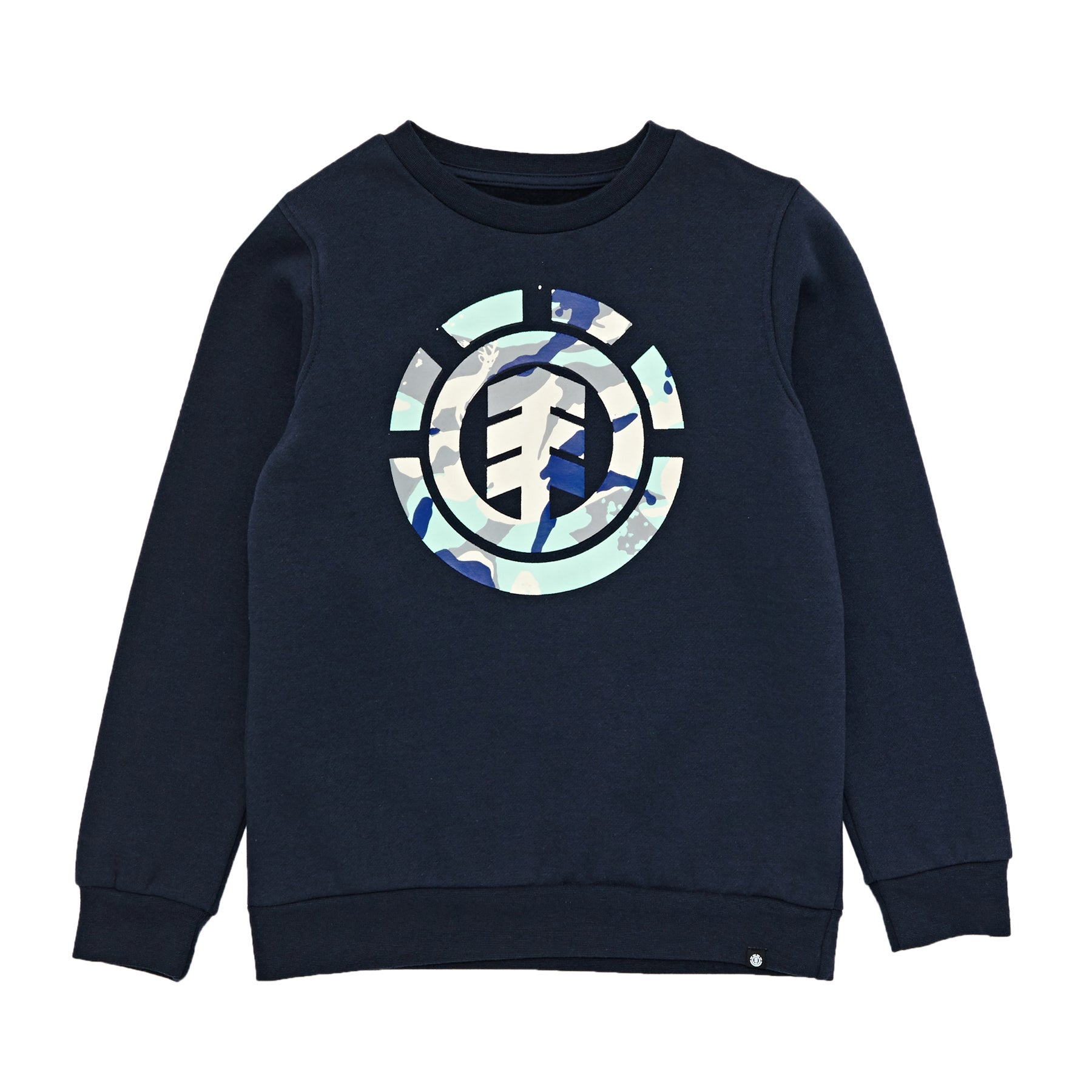 Sudadera Boys Element Spirit Camo Crew - Eclipse Navy