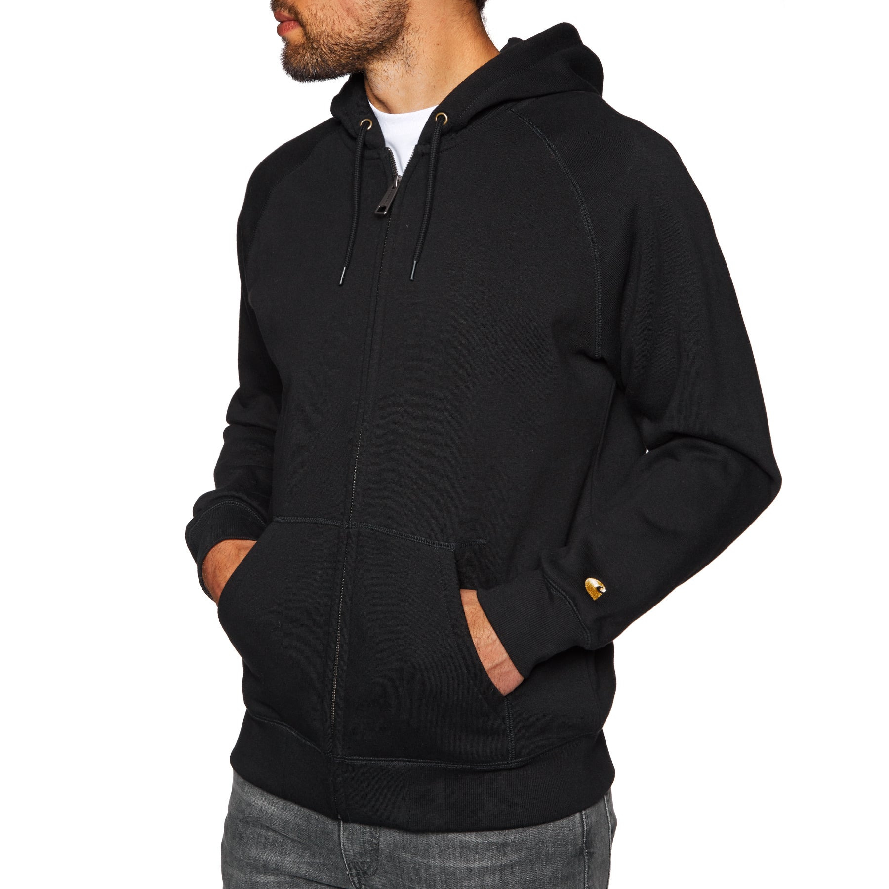 Carhartt Hooded Chase Pullover Hoody - Black Gold