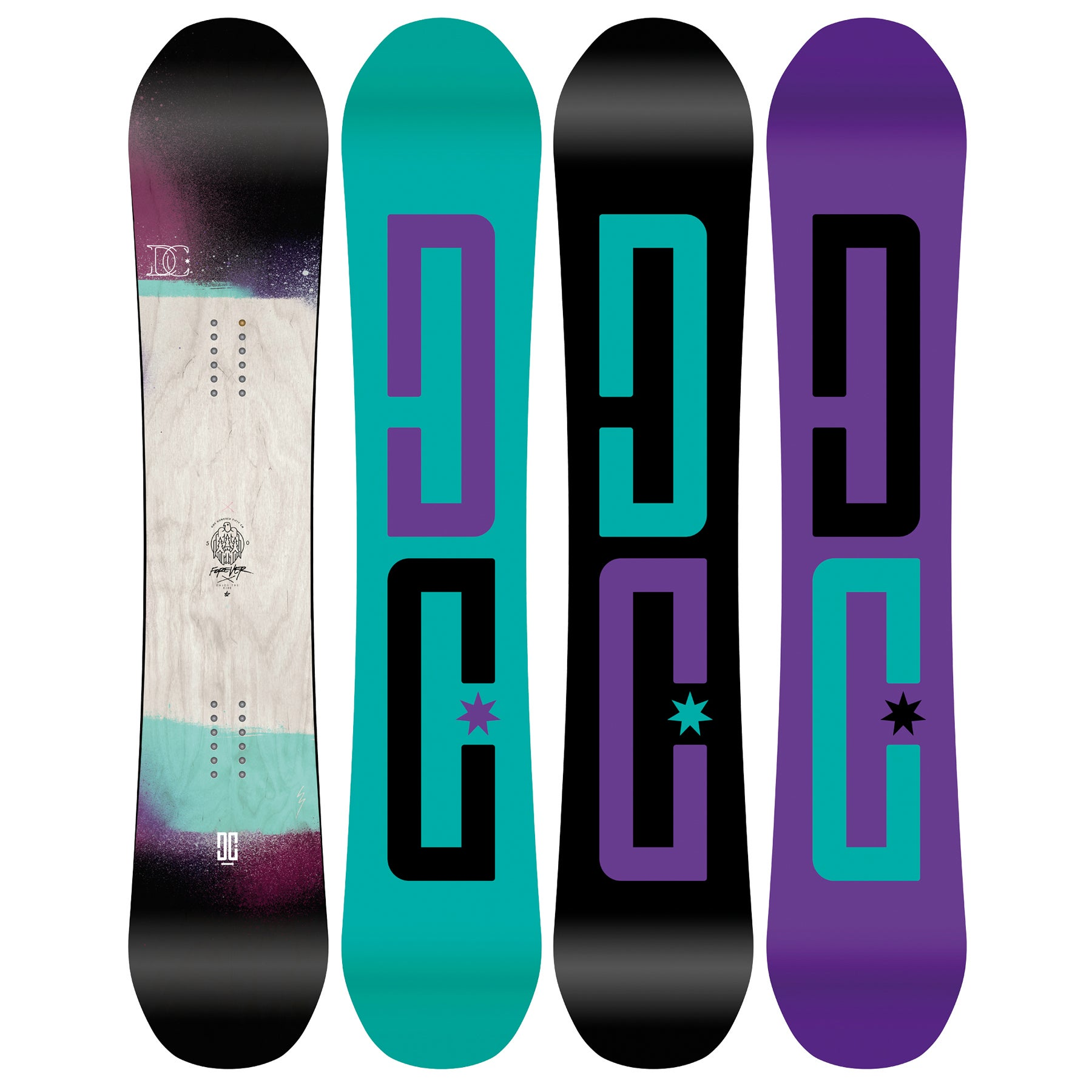 DC Forever Womens Snowboard - Multi