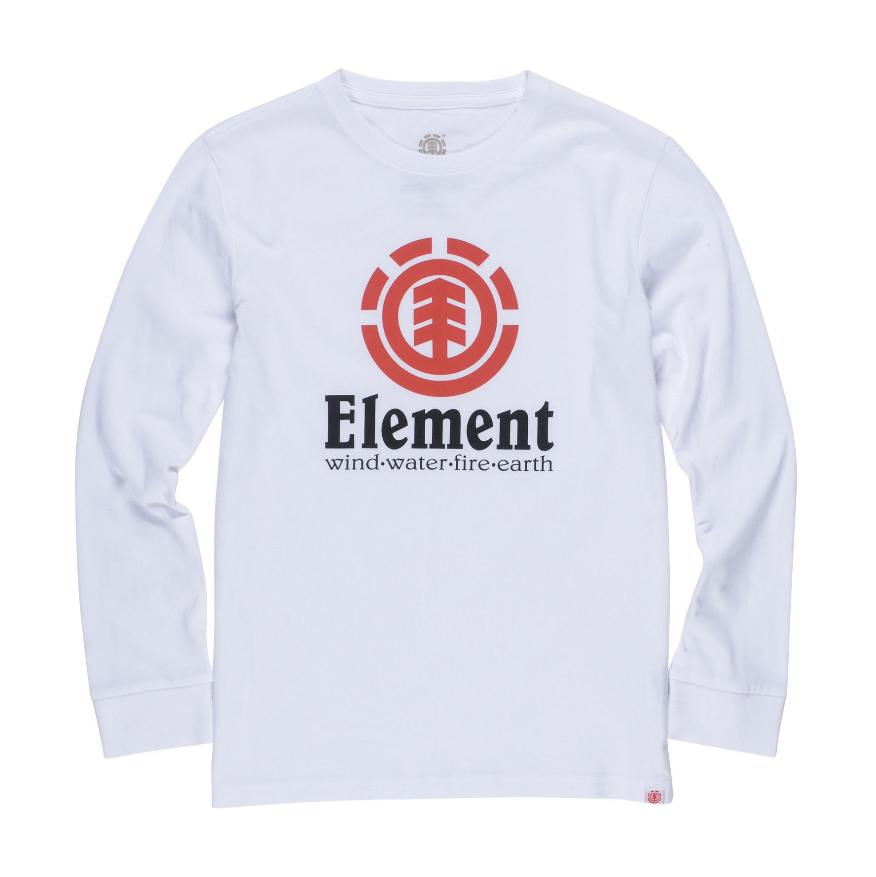Element Vertical Raglan Boys Long Sleeve T-Shirt - Optic White