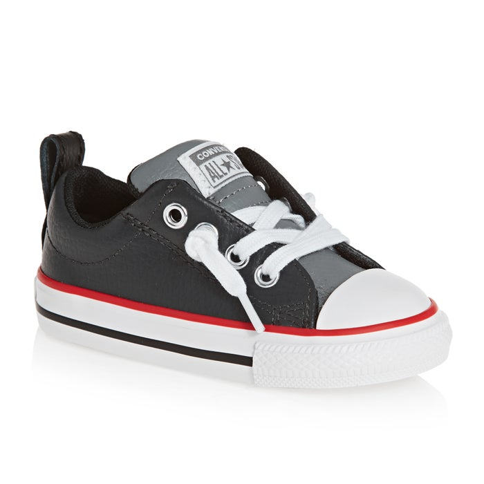 d7e2c0861111 Converse Chuck Taylor All Star Leather Street Slip Kids Shoes ...