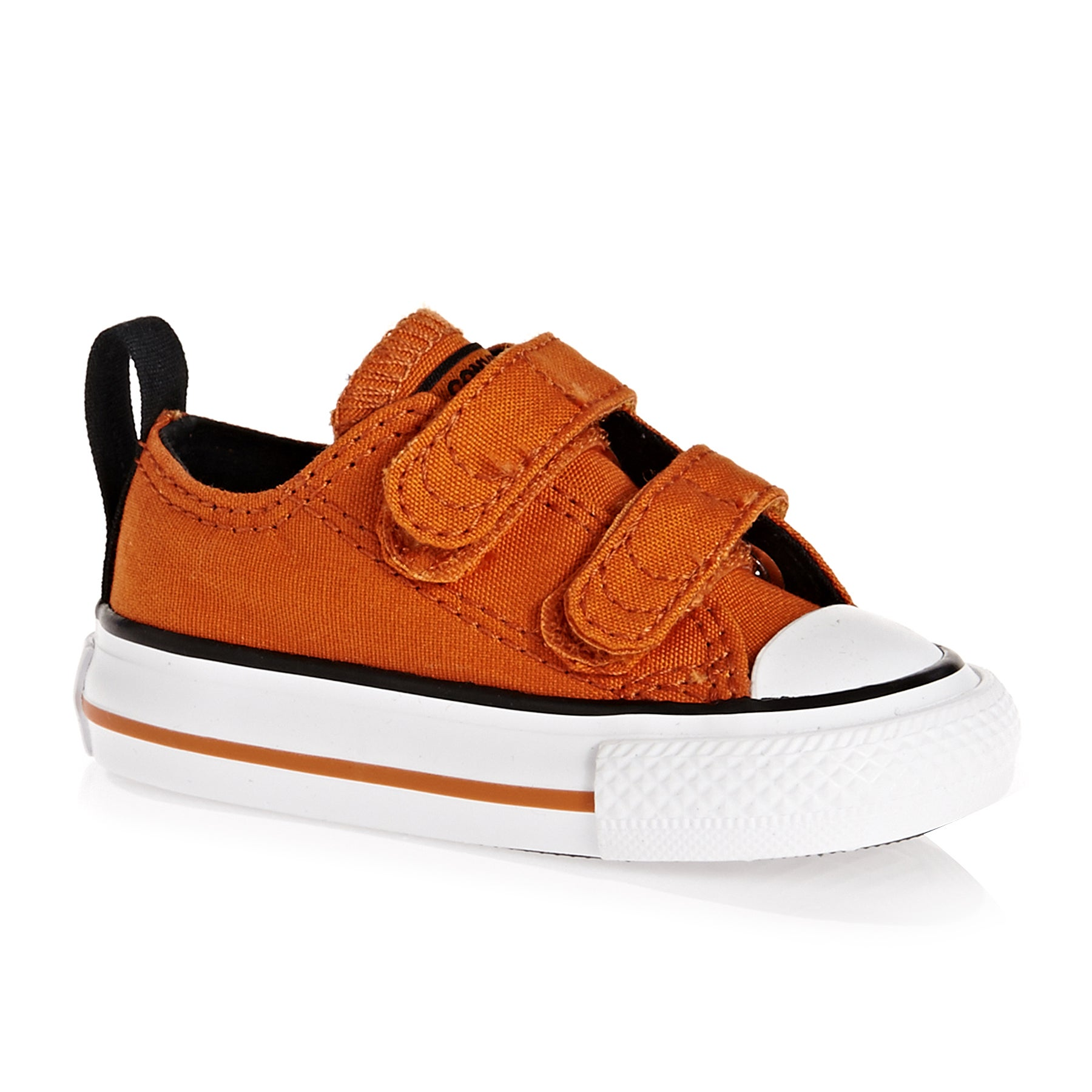 Converse Chuck Taylor All Star 2v Ox Baby Shoes - Campfire Orange Black White