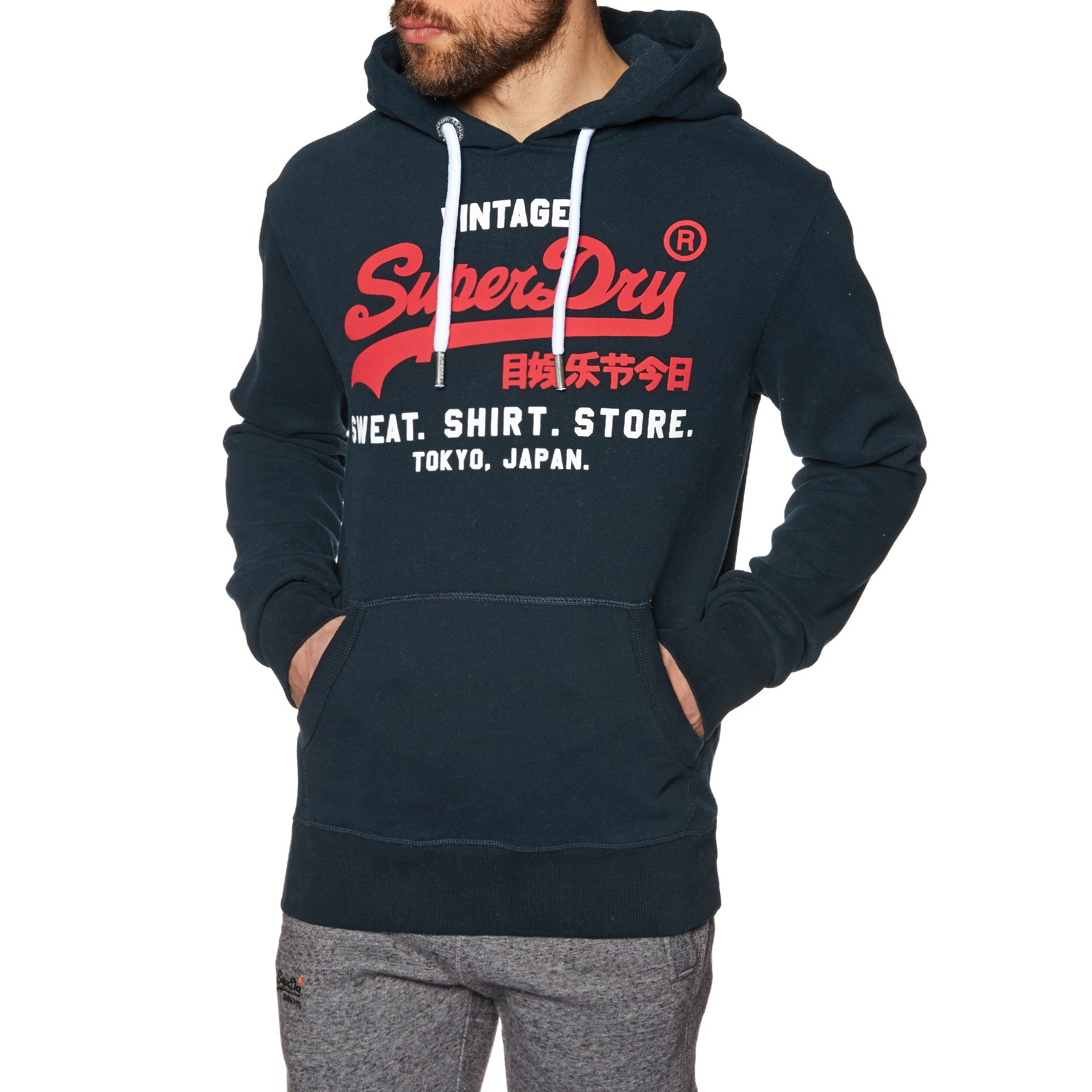 Pullover Superdry Sweat Shirt Shop Duo - Eclipse Navy
