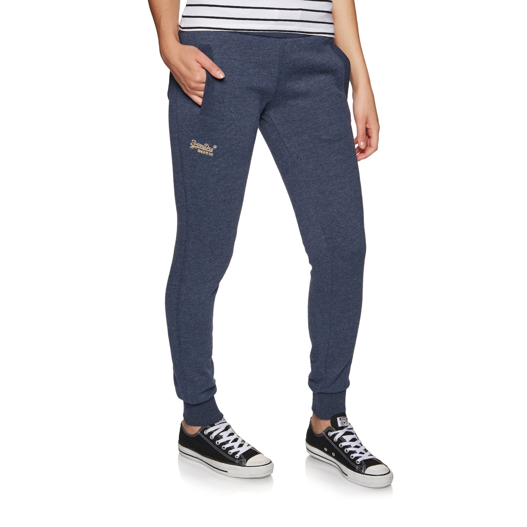 Calças de Jogging Senhora Superdry Orange Label Elite - Princedom Navy Marl