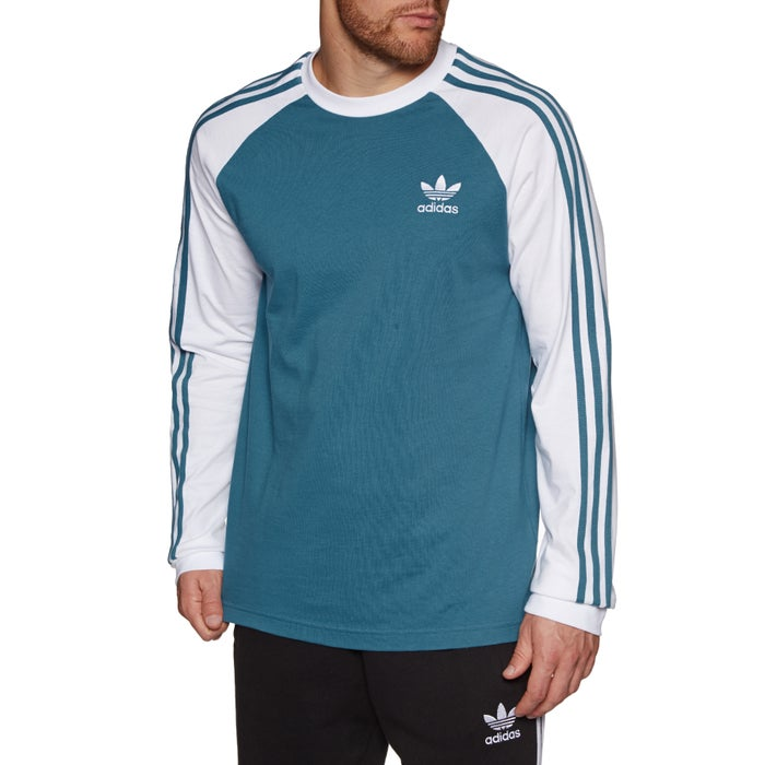 81e6c31ed6d4 Adidas Originals 3-Stripes Long Sleeve T-Shirt available from Surfdome