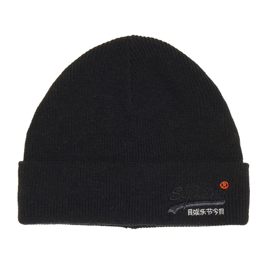 Bonnet Superdry Orange Label - Black Charcoal Grit