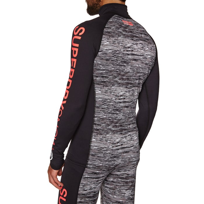 Superdry Carbon Baselayer 1/2 Zip Top Base Layer Top