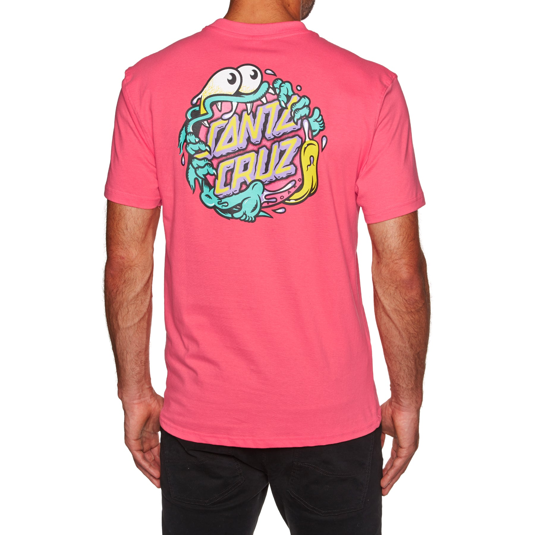 Santa Cruz Slasher Dot Short Sleeve T-Shirt - Flamingo