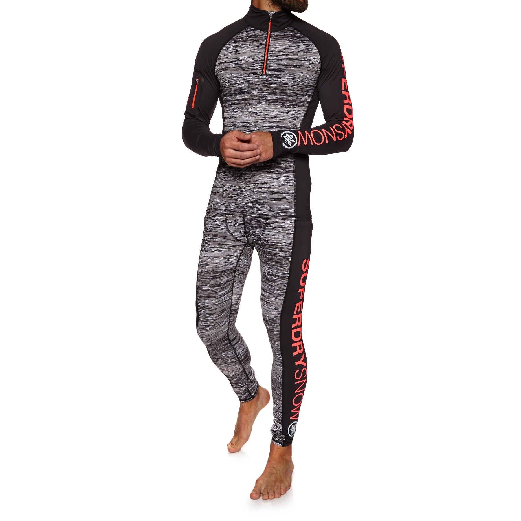Superdry Carbon Base Layer Leggings - Carbon Space Dye