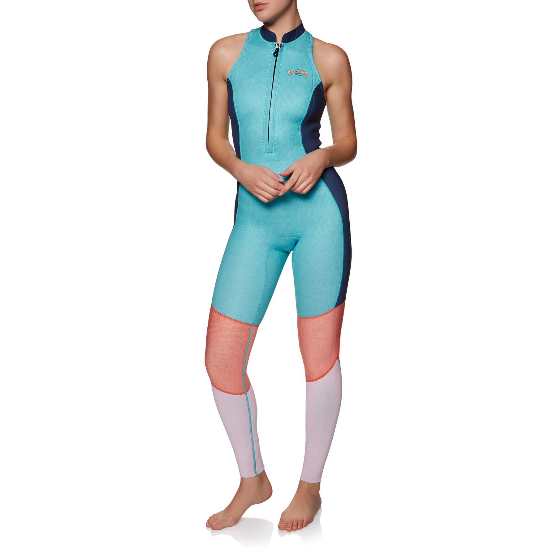 Billabong Salty Jane 2mm 2019 Front Zip Sleeveless Womens Wetsuit - Beach Blue