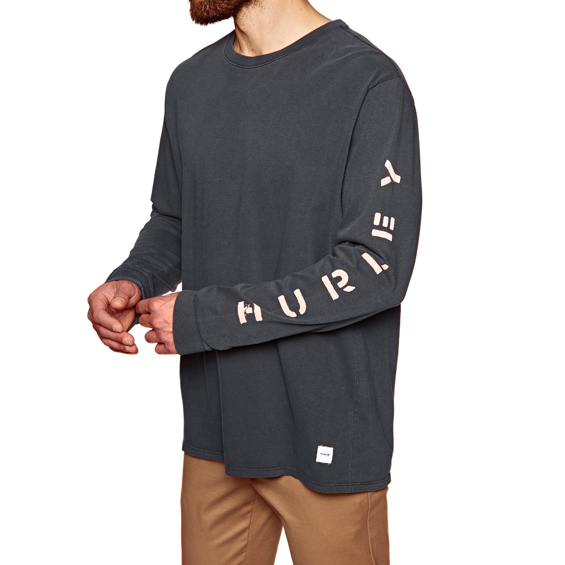 Hurley Heavy Cool Summer Long Sleeve T-Shirt - Anthracite