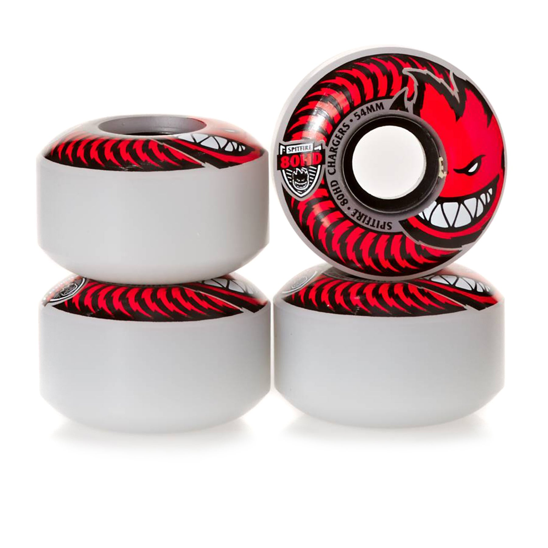 Spitfire Soft 80hd Chargers Classic 54 Mm Skateboard Wheel - Clear