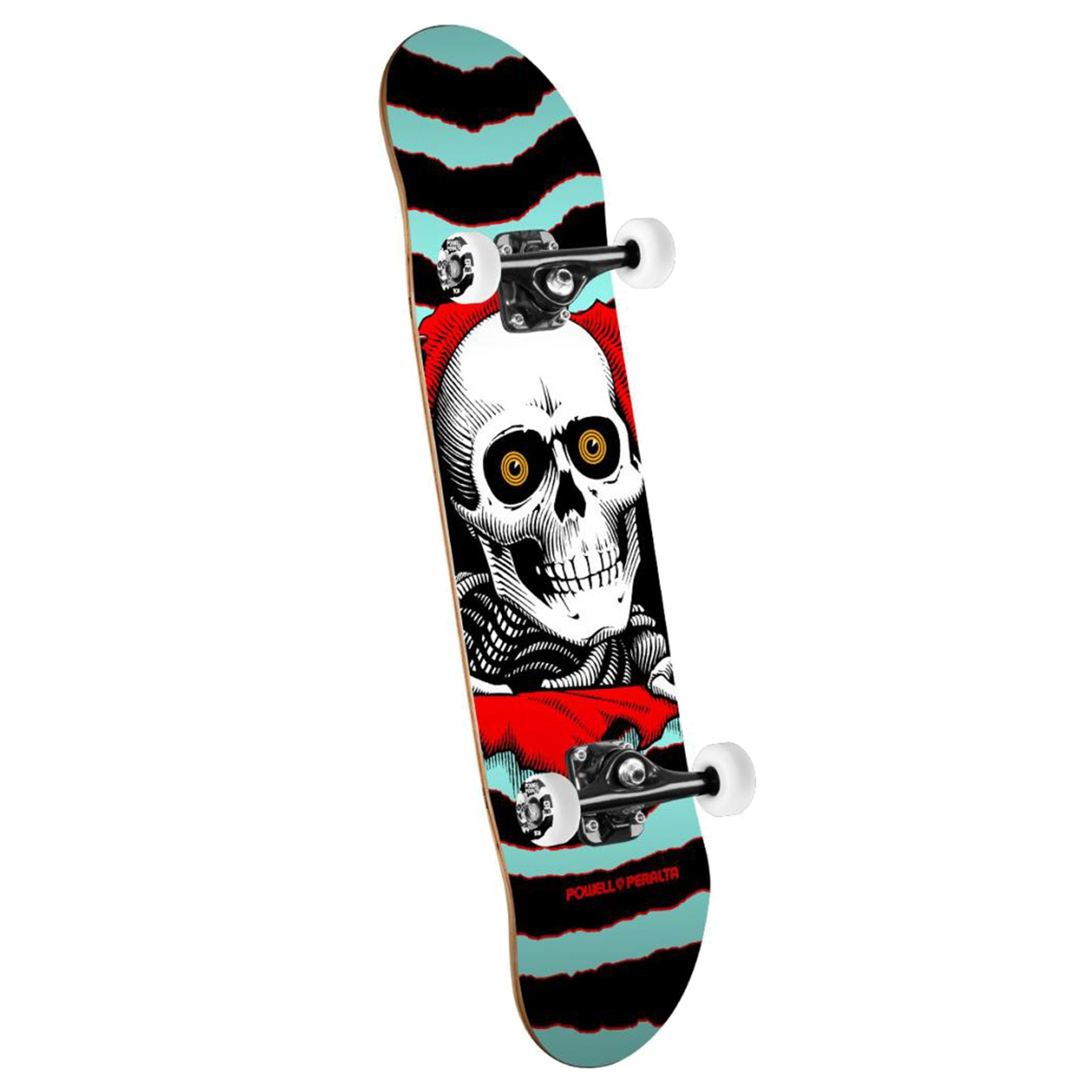 Powell Ripper 7.5 Inch Complete Skateboard - Turquoise/red