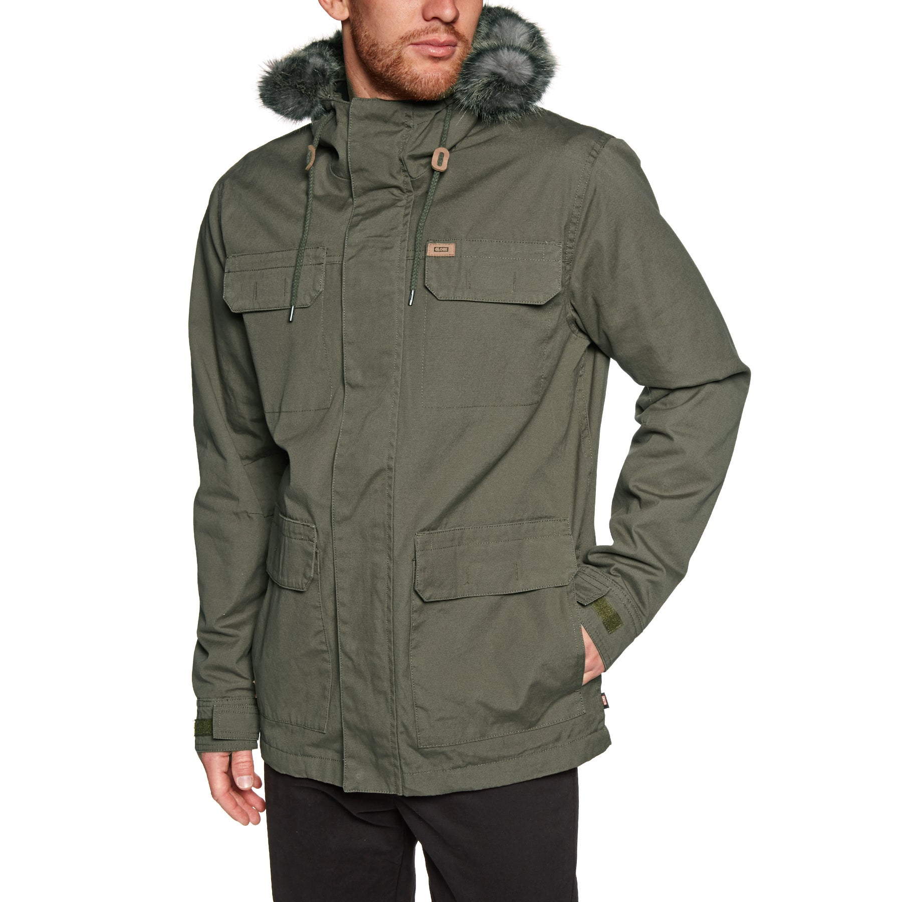 Giacca Globe Goodstock Thermal Parka - Dusty Olive