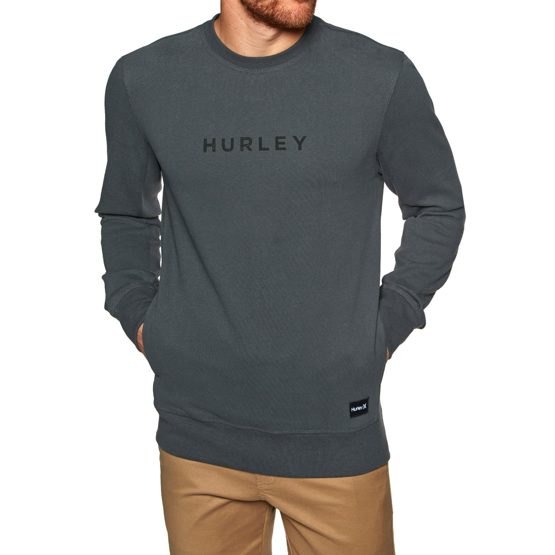 Hurley Atlas Boxed Crew Sweater - Anthracite