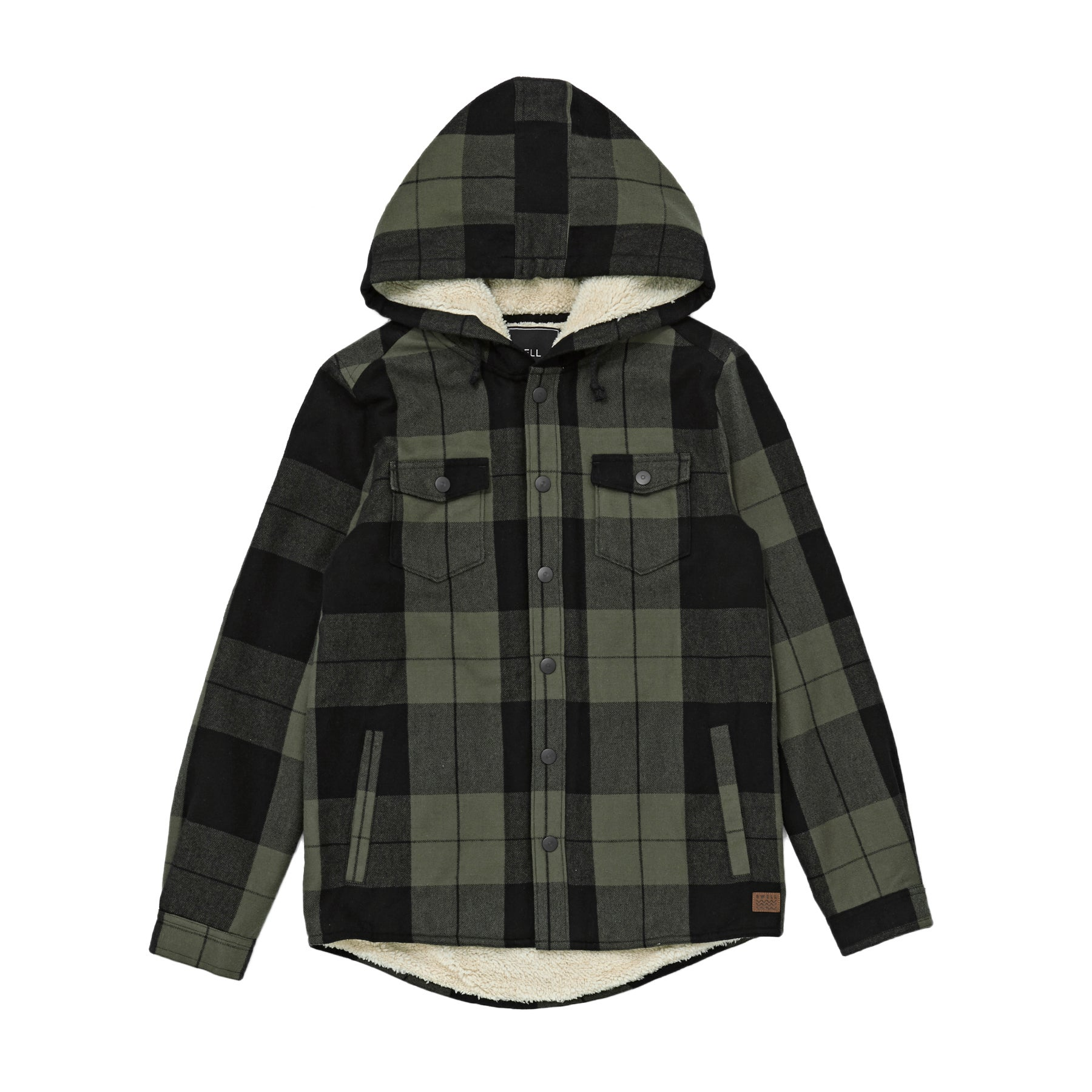 Camisa Boys SWELL Protest Hooded - Olive
