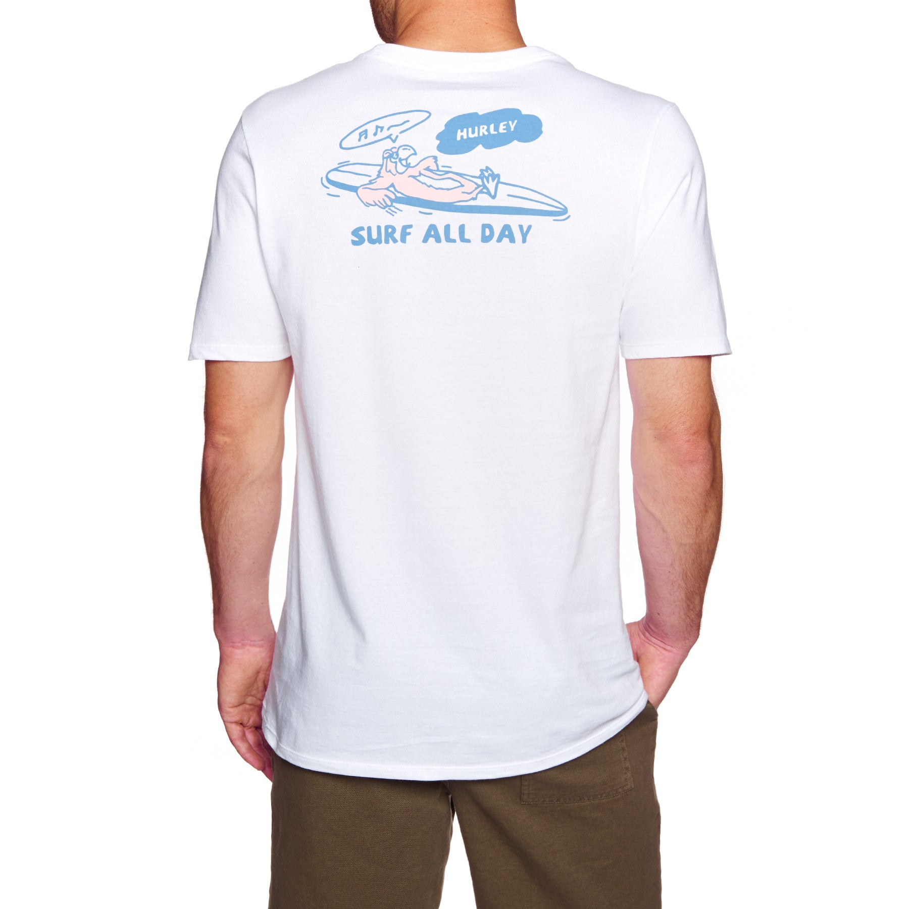 Hurley Surf All Day Short Sleeve T-Shirt - White