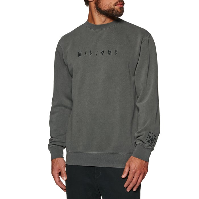 bfb88eb970 Welcome Icon Pigment-dyed Crew Sweater available from Surfdome