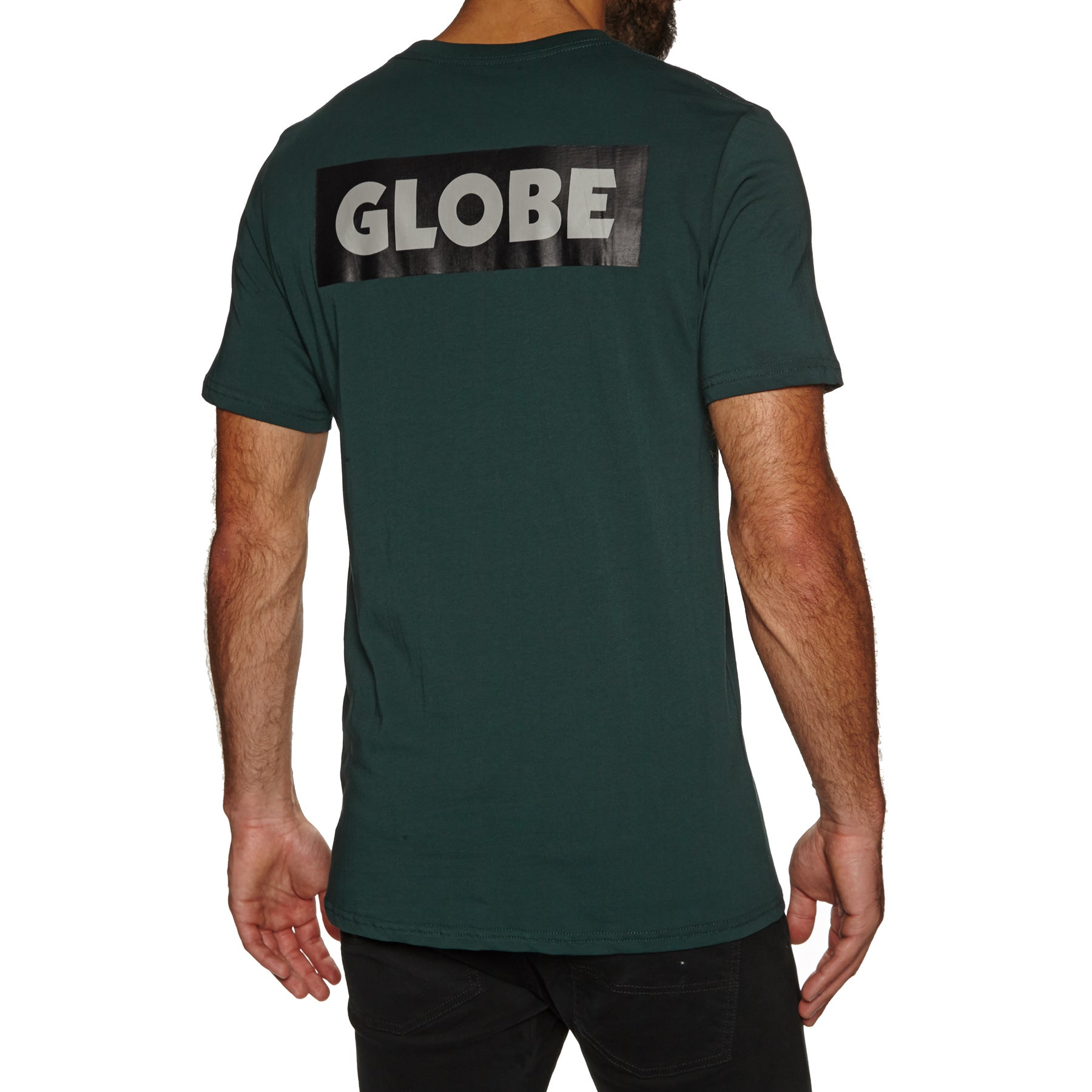 Globe Sticker Tee Ii Short Sleeve T-Shirt - Bottle Green