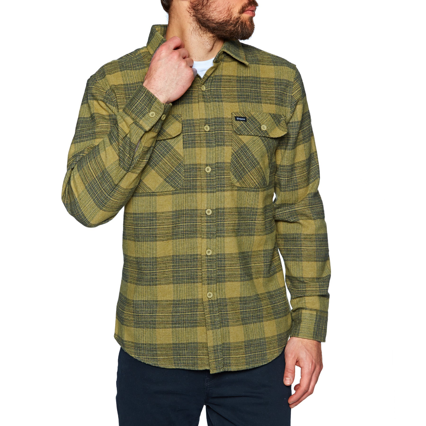 21183b824f53 Brixton Bowery Flannel Shirt available from Surfdome