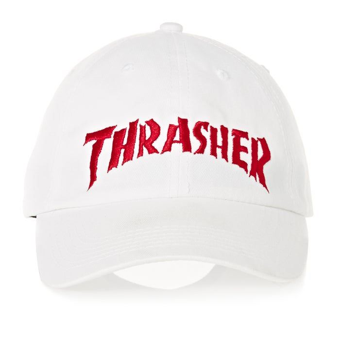 bc1db9b6e52 Thrasher Neckface Invert Old Timer Cap available from Surfdome
