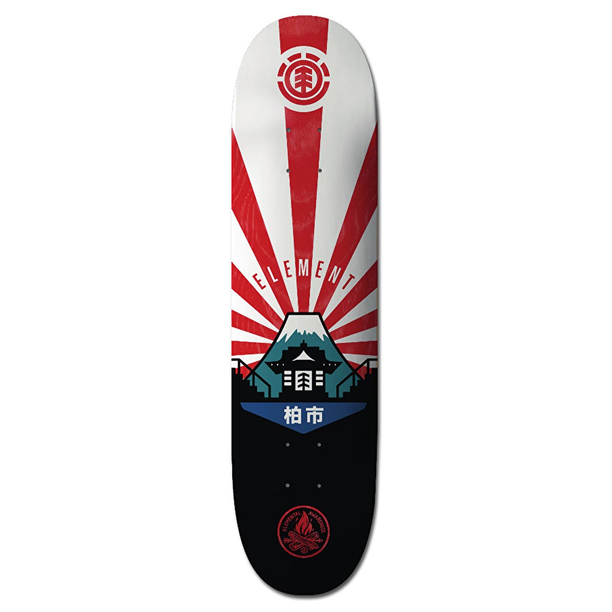 Element Elemental Awareness Japan 7.75 Inch Skateboard Deck - Multicolour
