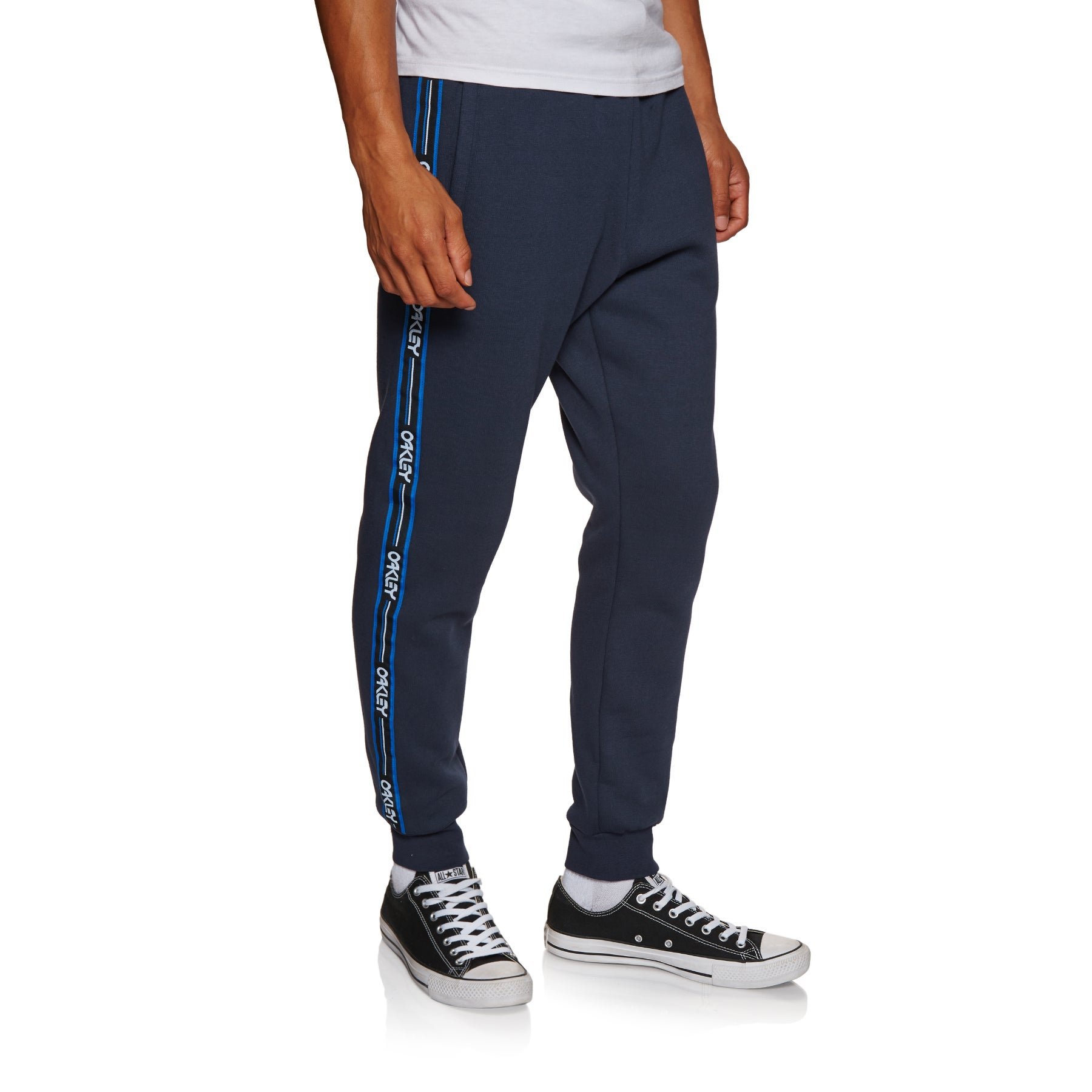 Oakley Street Logo Tape Fleece Jogging Pants - Fathom
