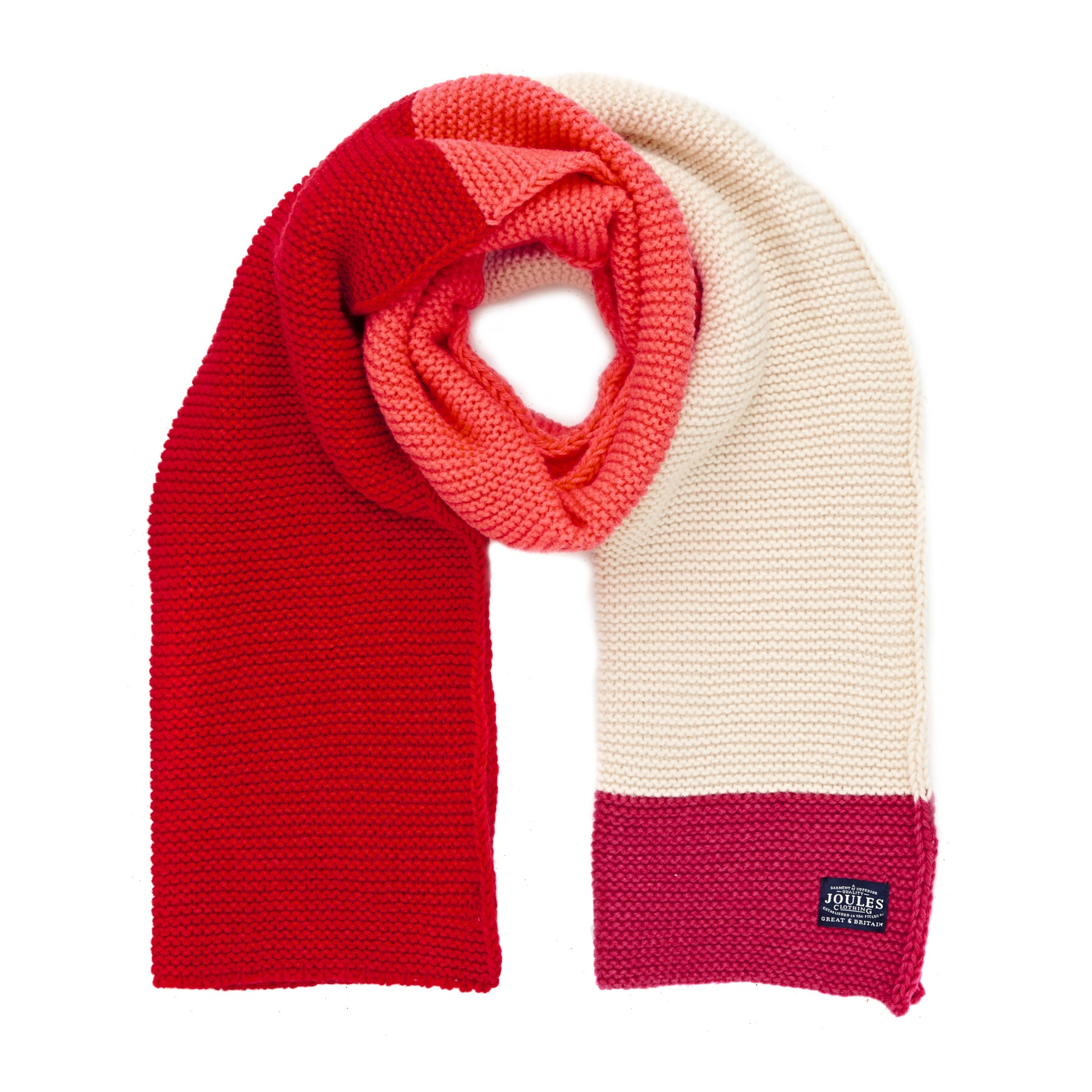 Joules Annis Knitted Womens Scarf - Fuschia
