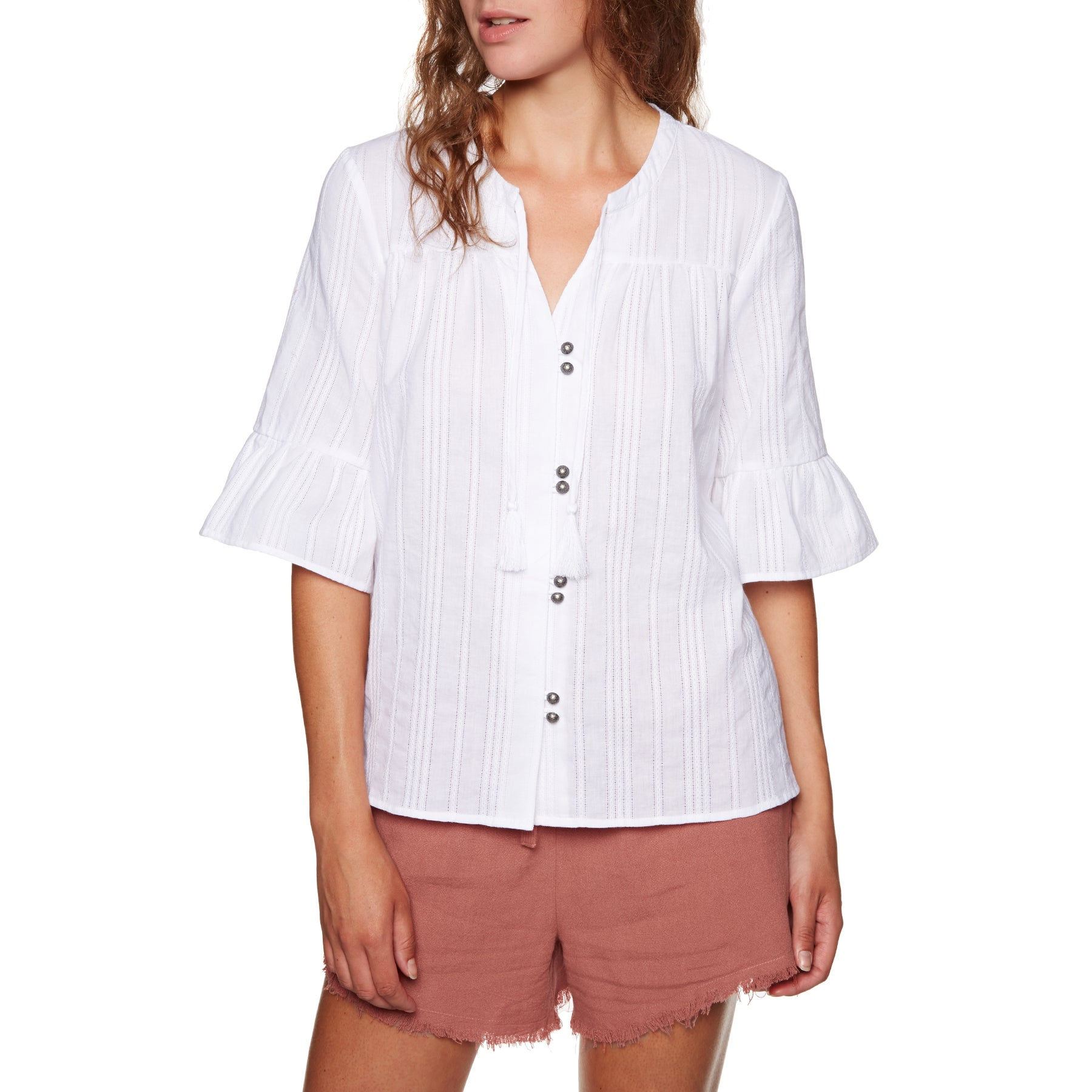 SWELL Faraway Smock Blouse Womens Top - White