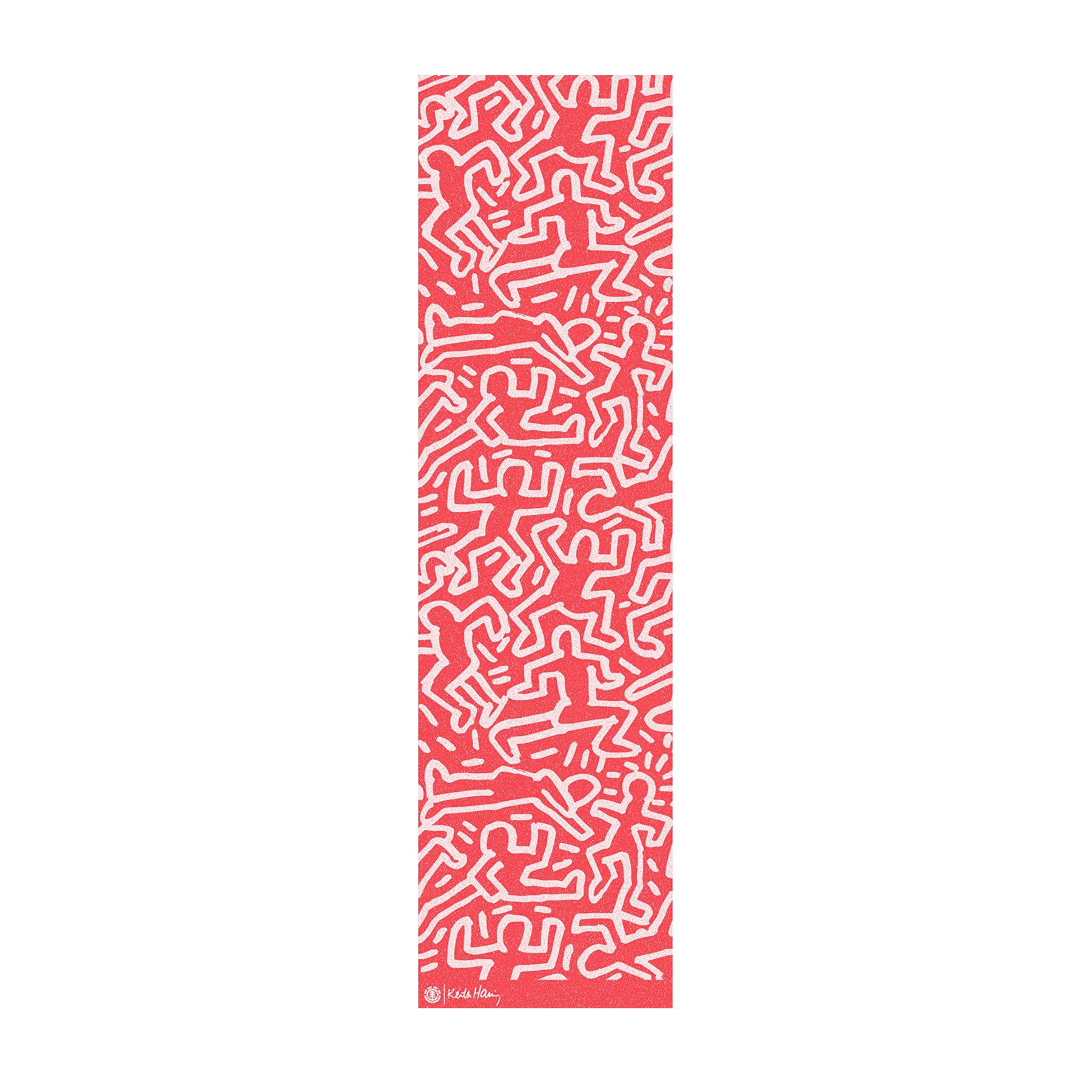 Skateboard Griptape Element Haring - Red All Over