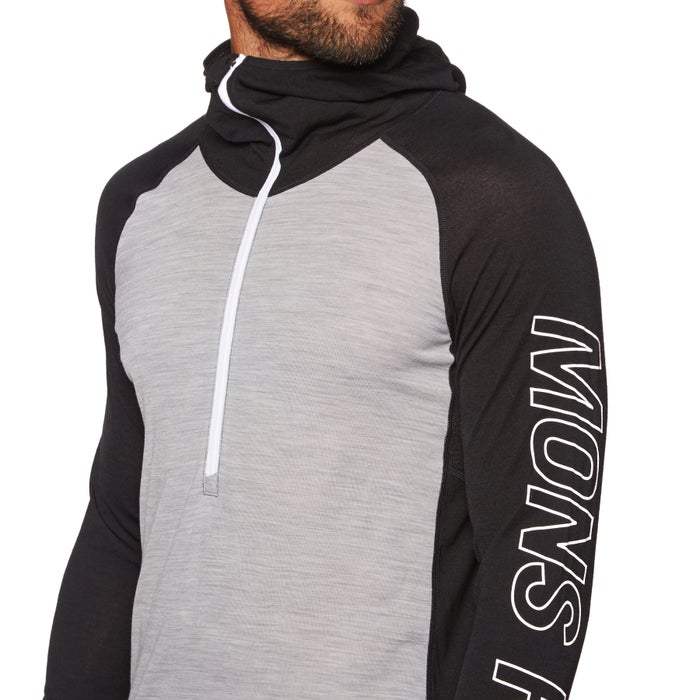 Top Seconde Peau Mons Royale Temple Tech Hooded