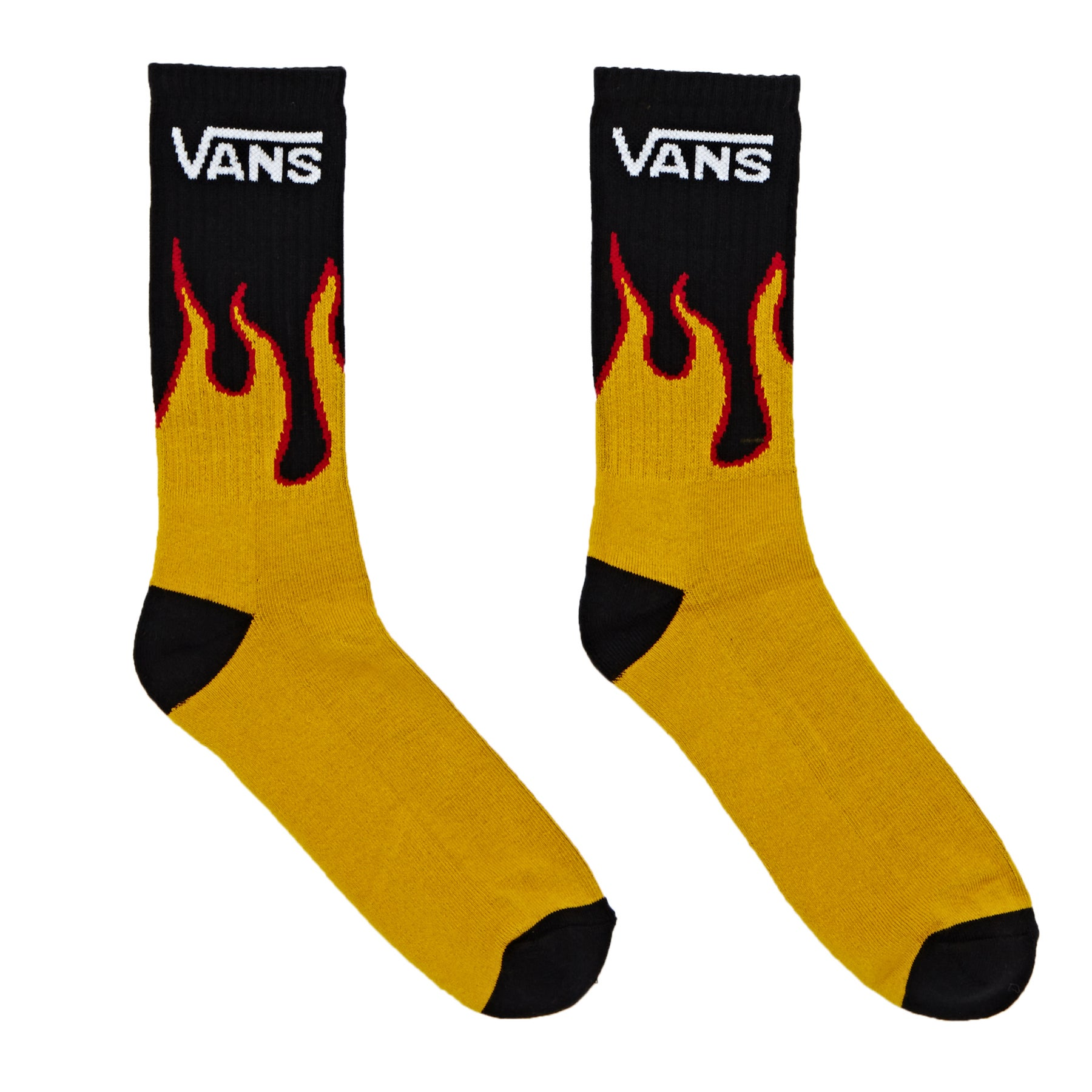 Vans Flames Crew 1 Pack Socks available from Surfdome