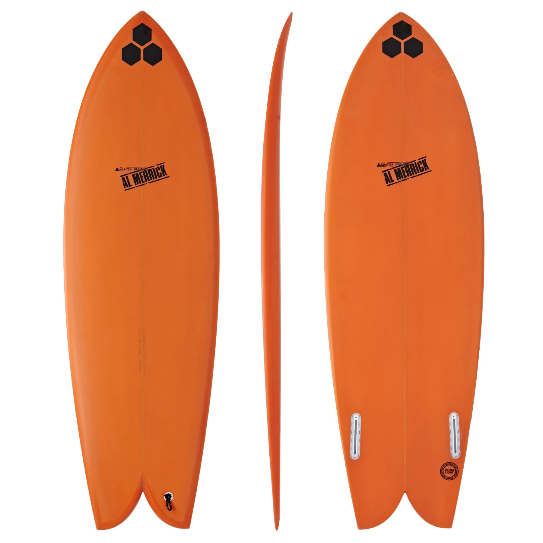 Surfboard Channel Islands Fish - Orange