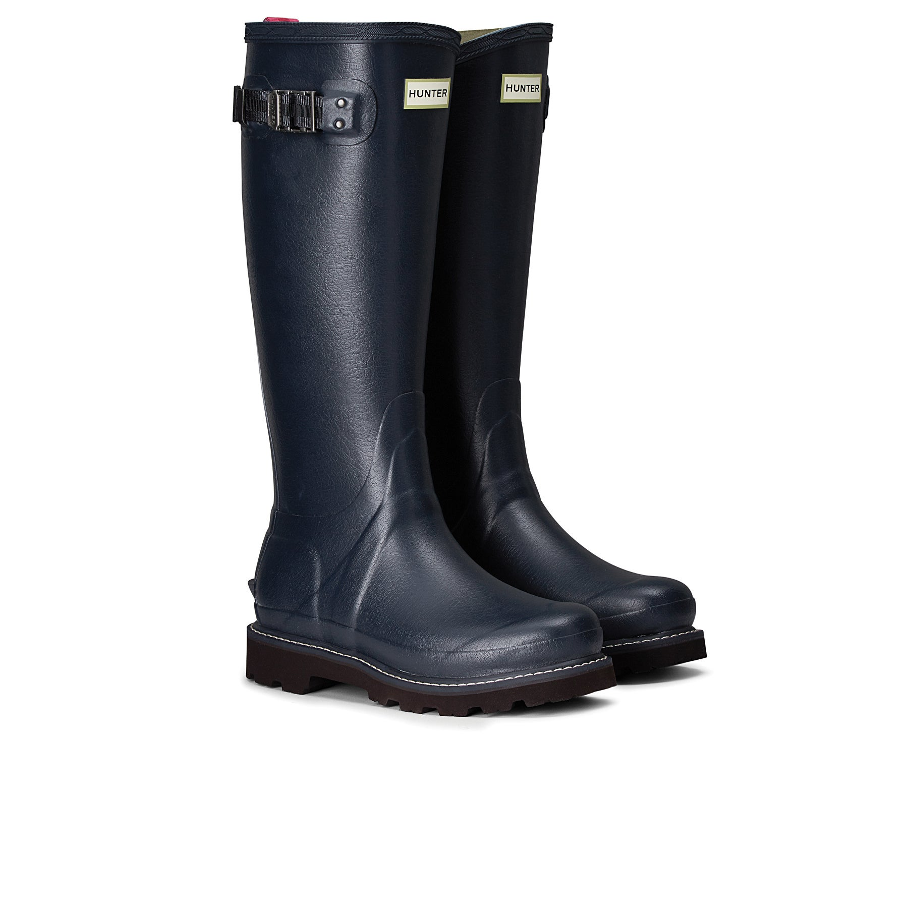 Hunter Balmoral II Poly Lined Womens Wellies - Navy Peppercorn