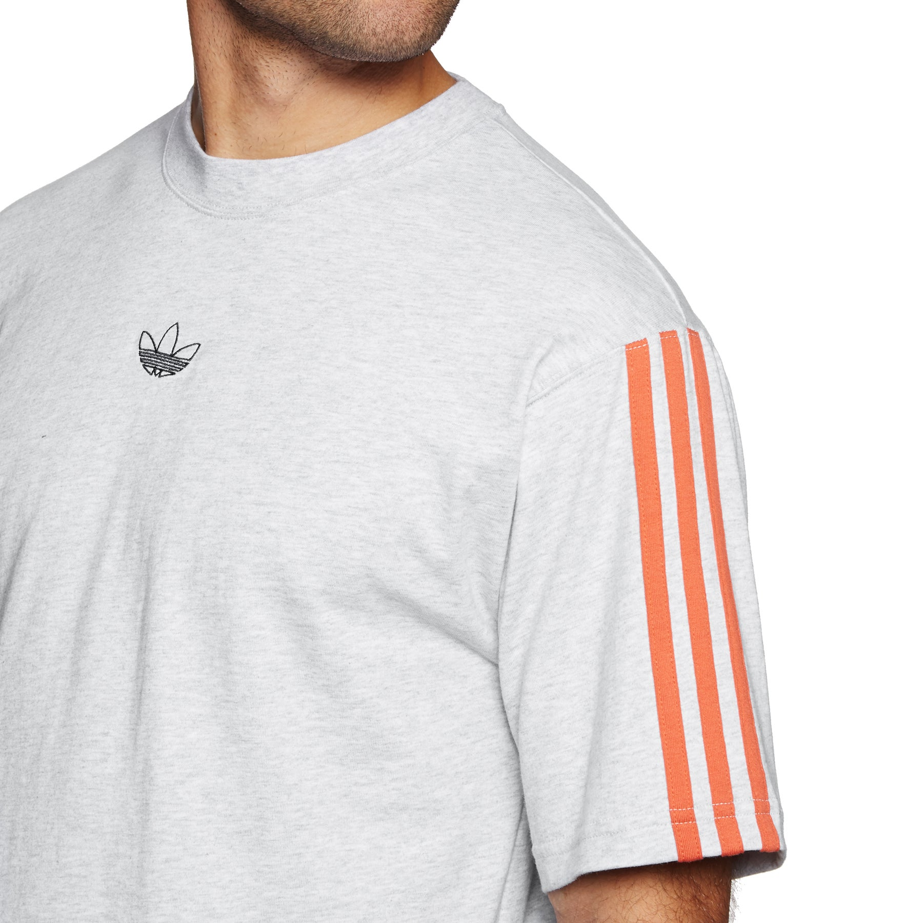adidas originals FLOATING T Shirt light grey heatherraw