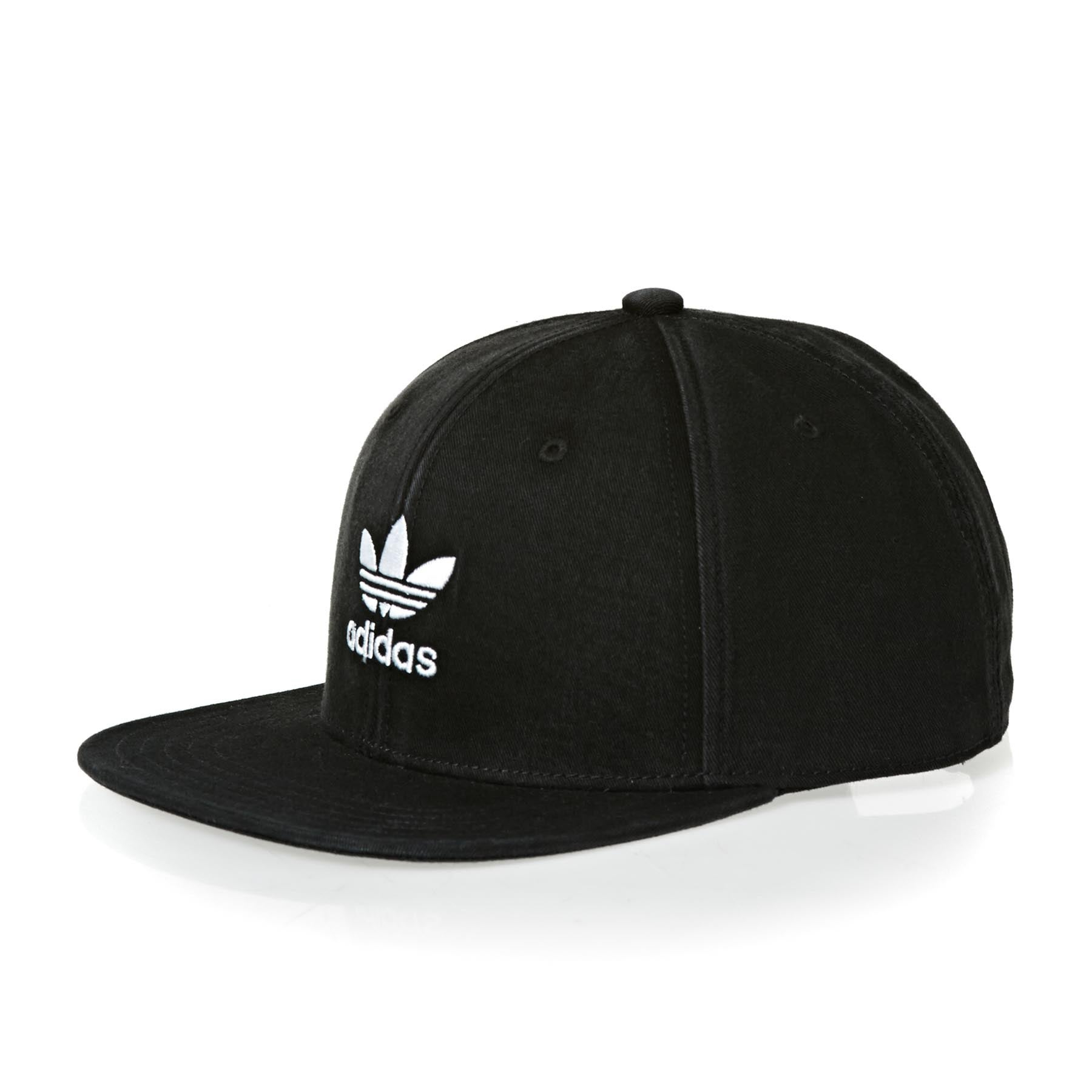 Adidas Originals Ac Trefoil Flat Cap - Black White