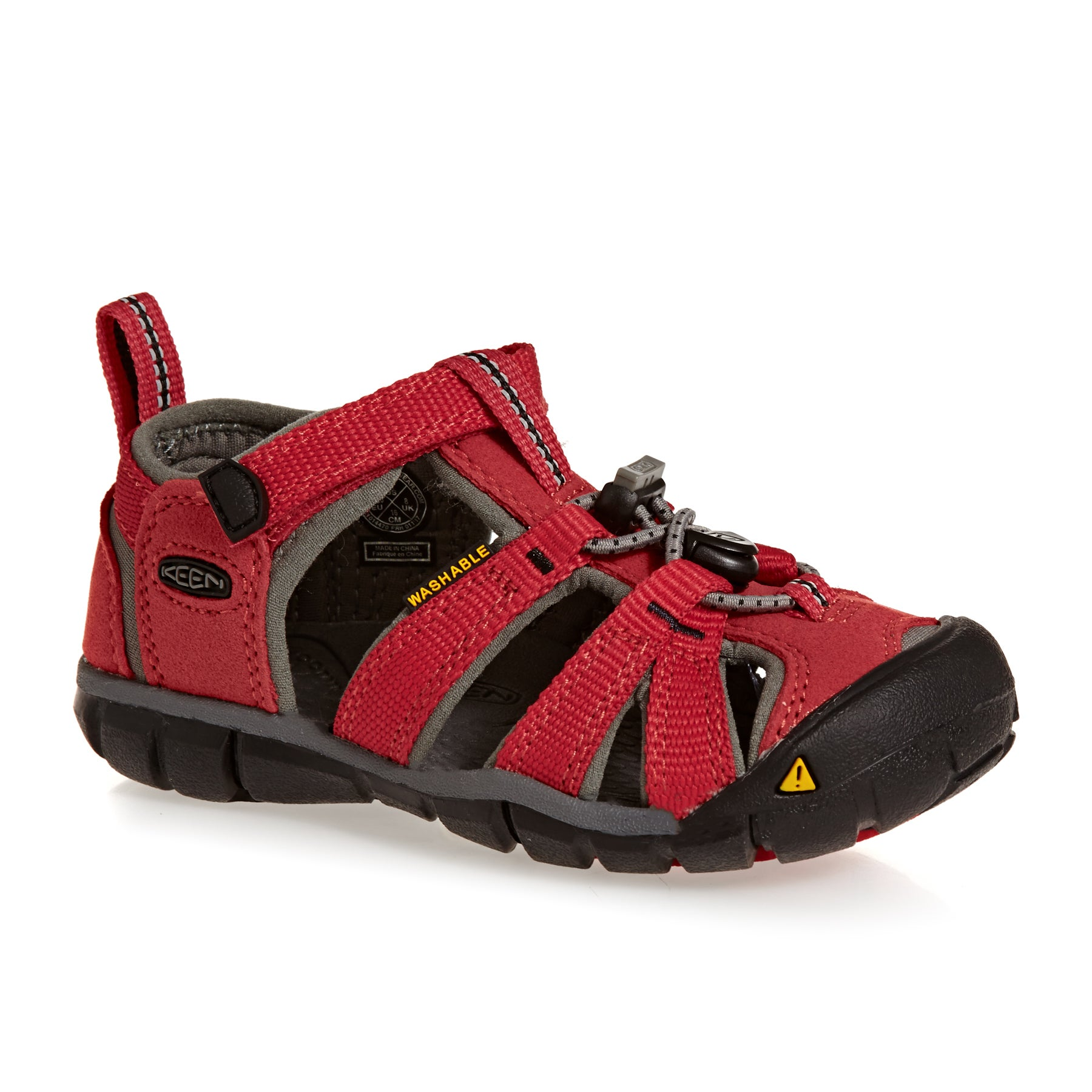 Keen Seacamp II CNX Kids Sandals - Racing Red Gargoyle