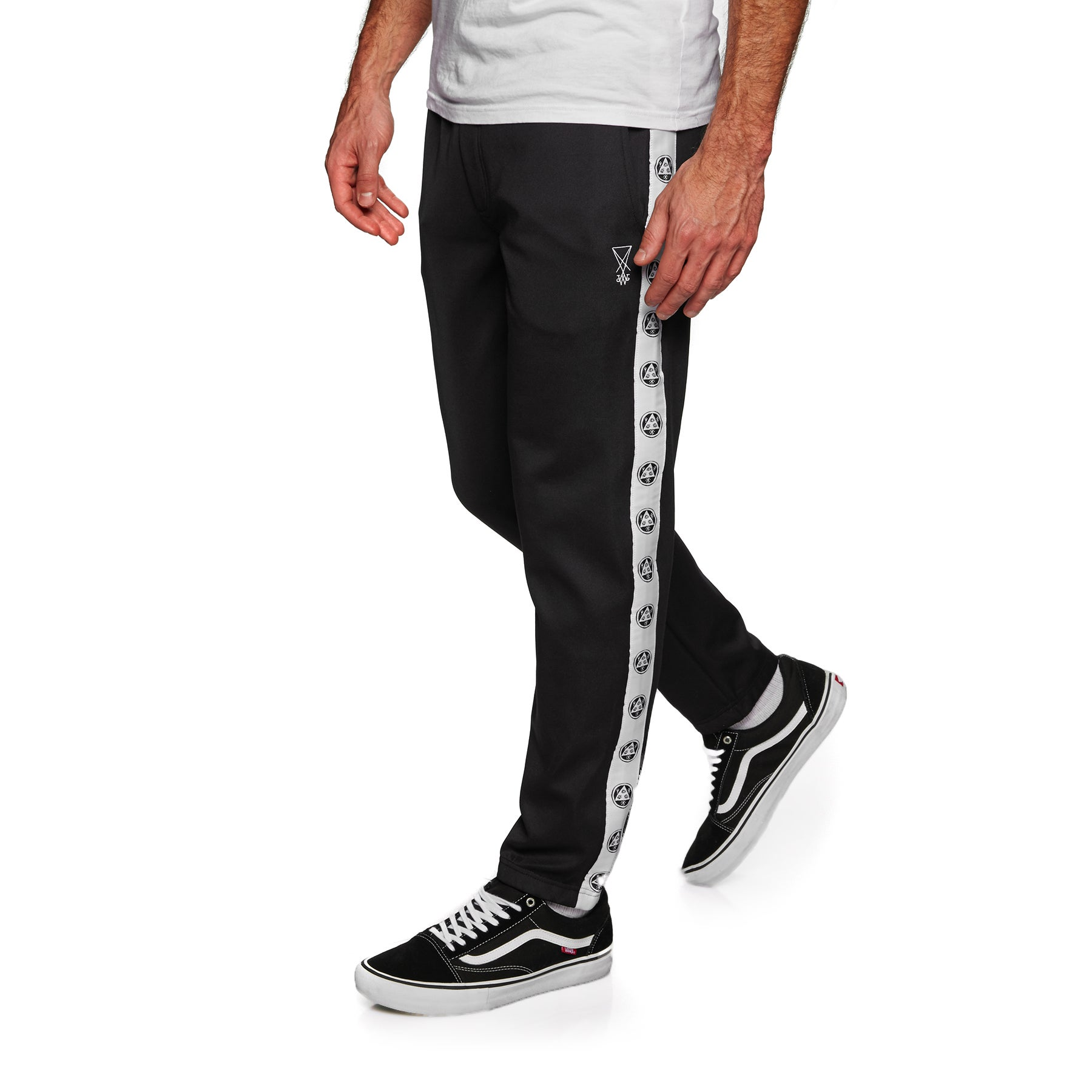 Welcome Talisman Track Jogging Pants - Black White