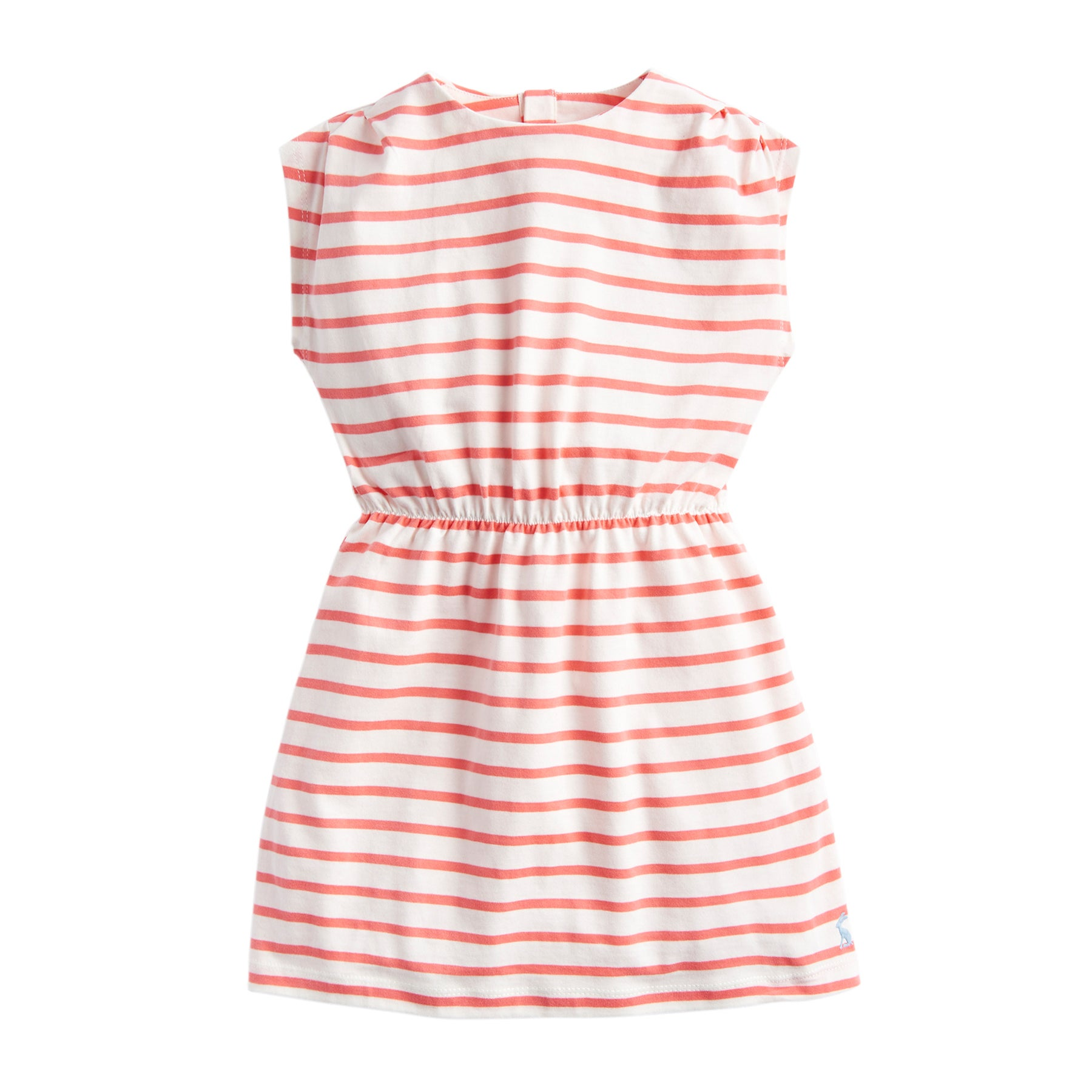 Vestido Girls Joules Annabel - Cream Pink Stripe