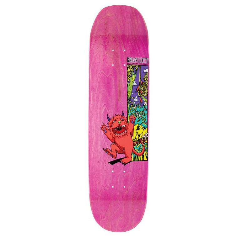 Welcome Lotti Wild Thing On Moontrimmer 2.0 8.5 Inch Skateboard Deck - Neon Coral/various
