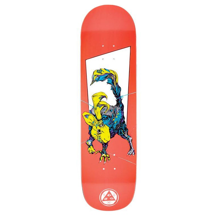 Welcome Pack Rabbit On Big Bunyip 8.5 Inch Skateboard Deck - White Lightning