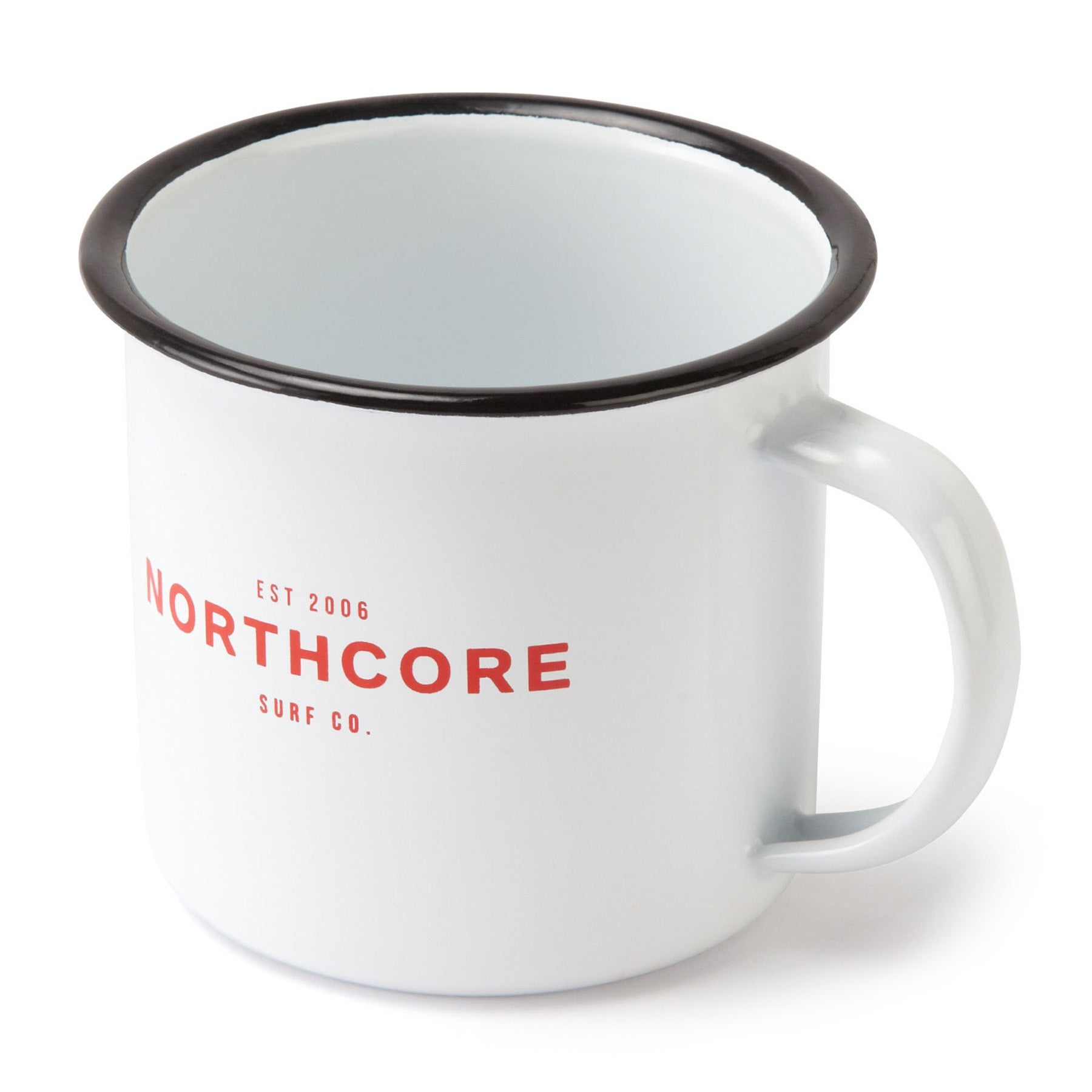 Northcore Adventure Enamel Steel Mug - White