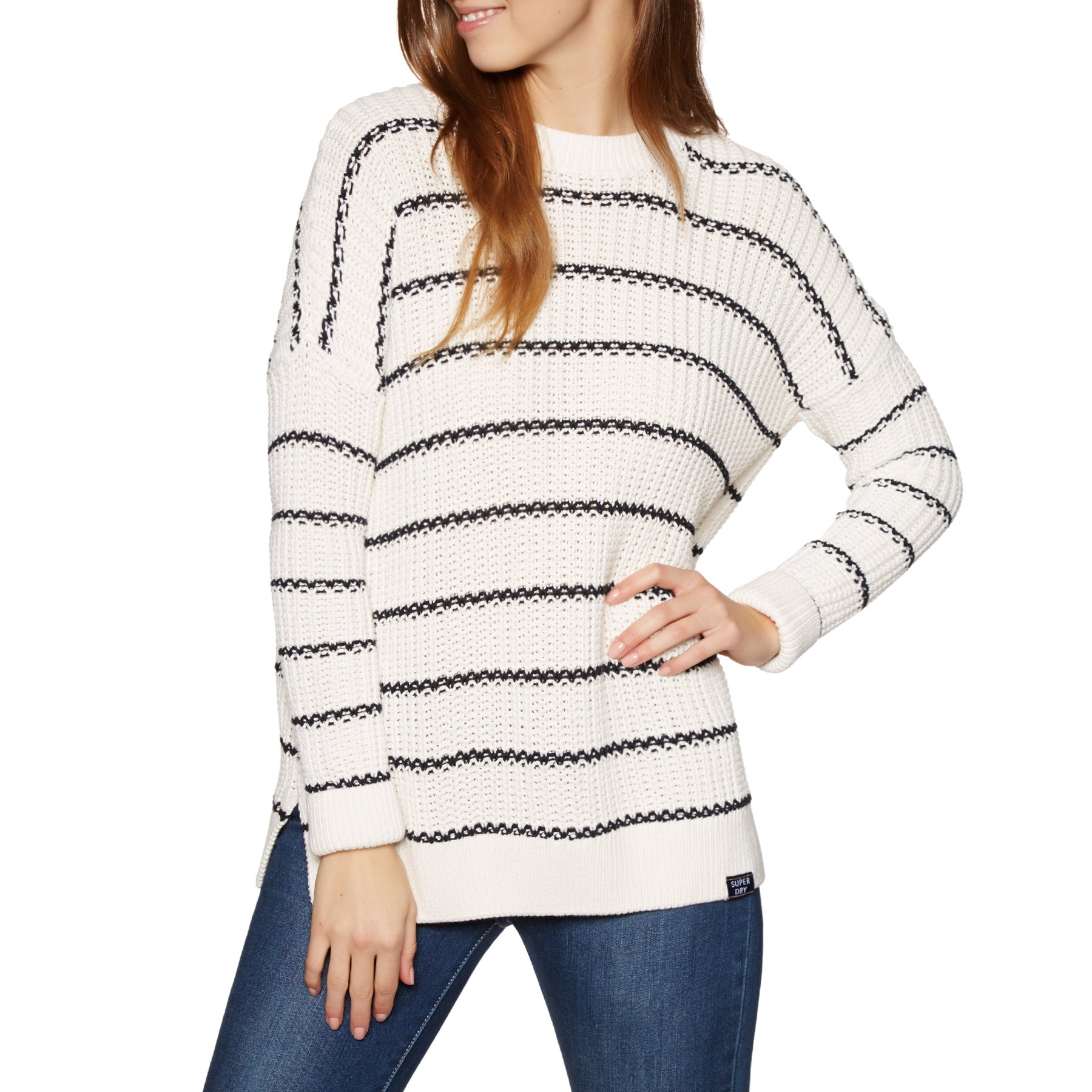 Sweat Femme Superdry Elsie Slouch - Rodeo White Eclipse Navy