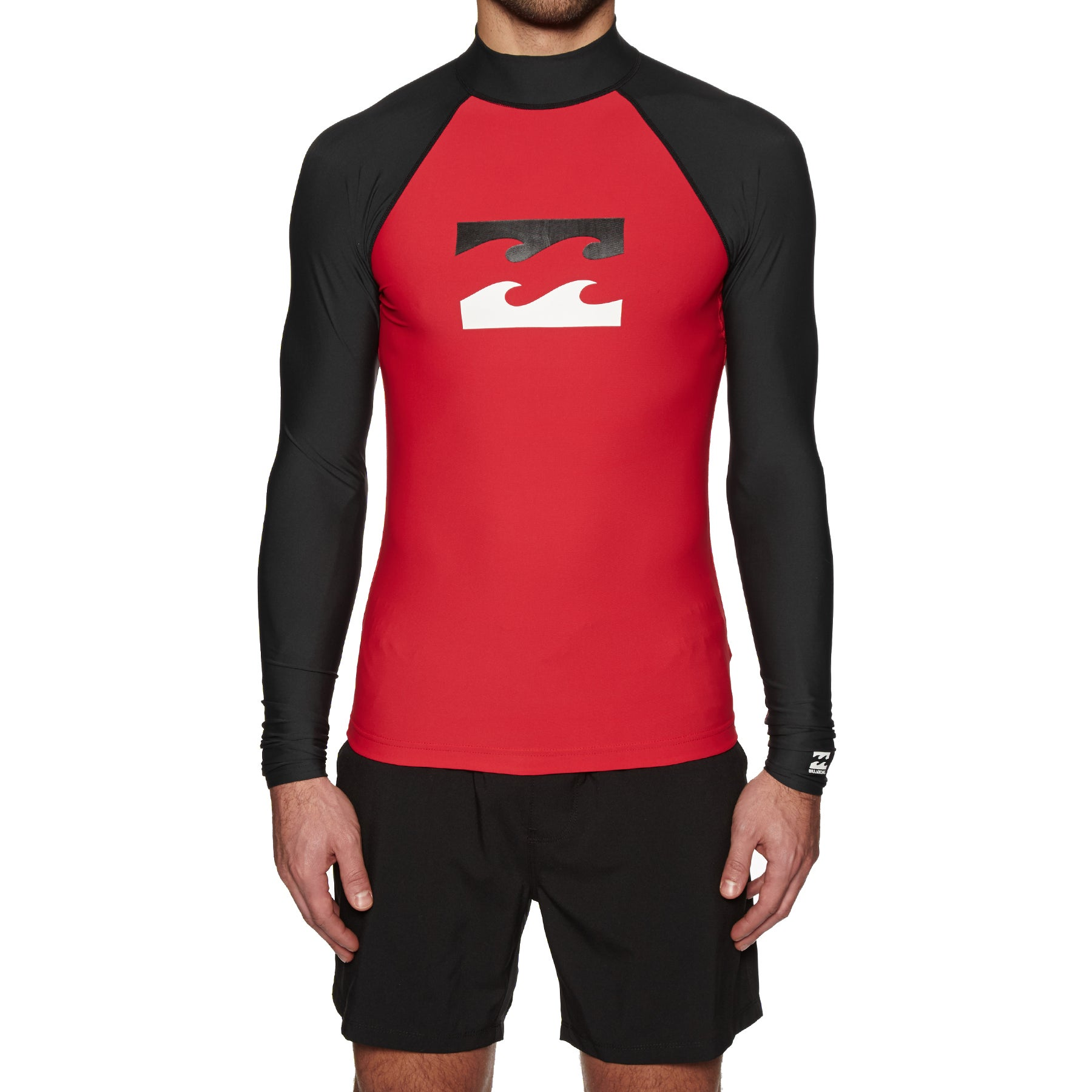 Billabong Team Wave Long Sleeve Rash Vest - Red