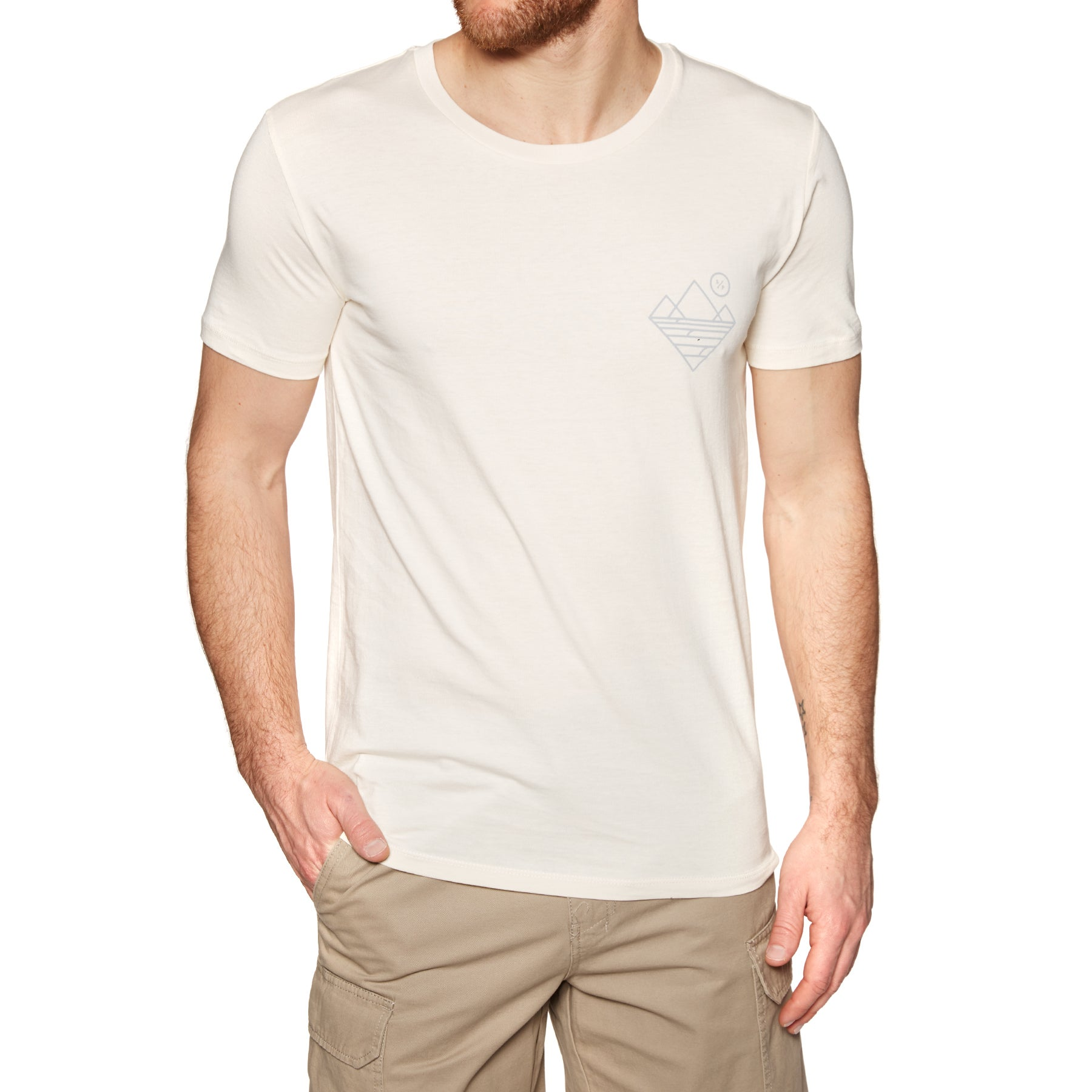 Surf Perimeters The Compound Casual Short Sleeve T-Shirt - Natural Off White